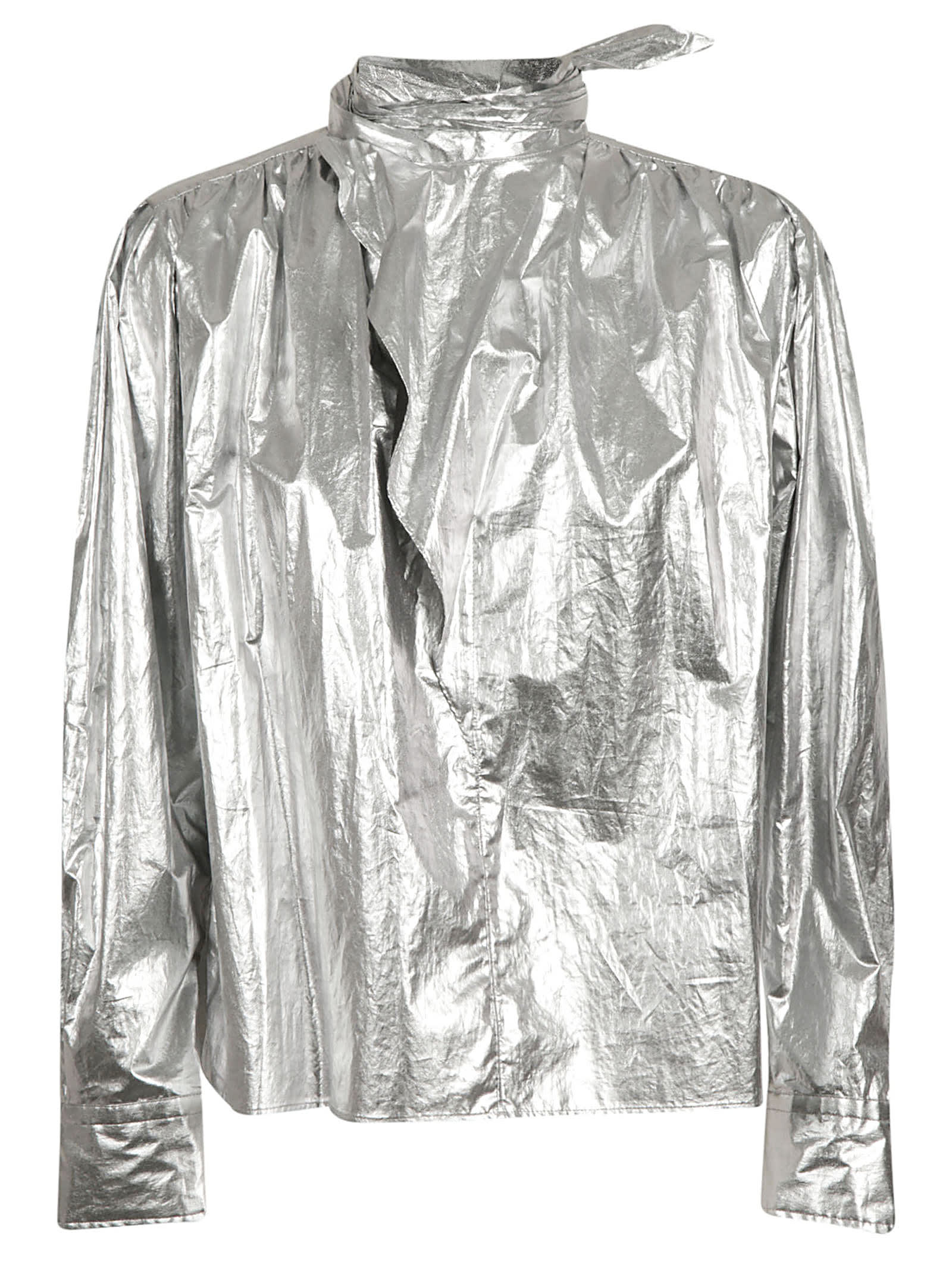 Isabel Marant Metallic Coated Sports Jacket
