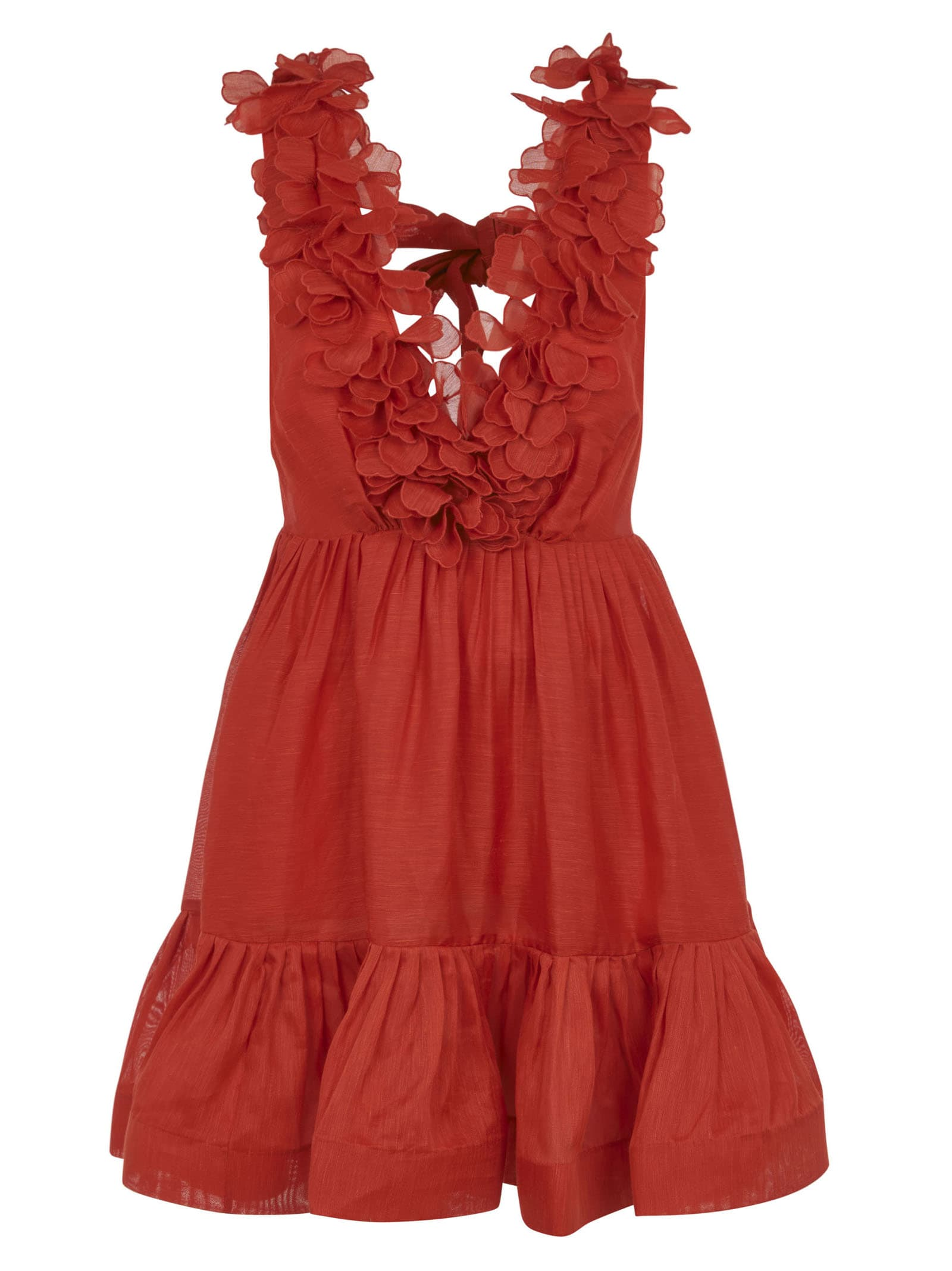 Buy Floral Applique Sleeveless Dress online, shop Zimmermann with free shipping