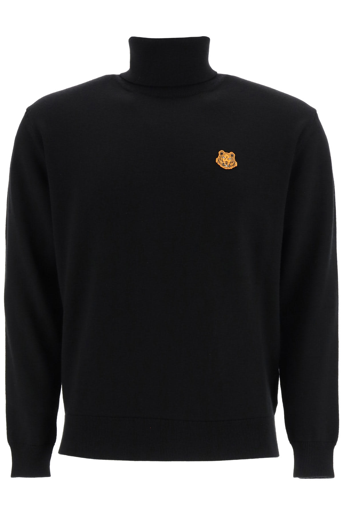 Kenzo Turtleneck Sweater With Tiger Patch