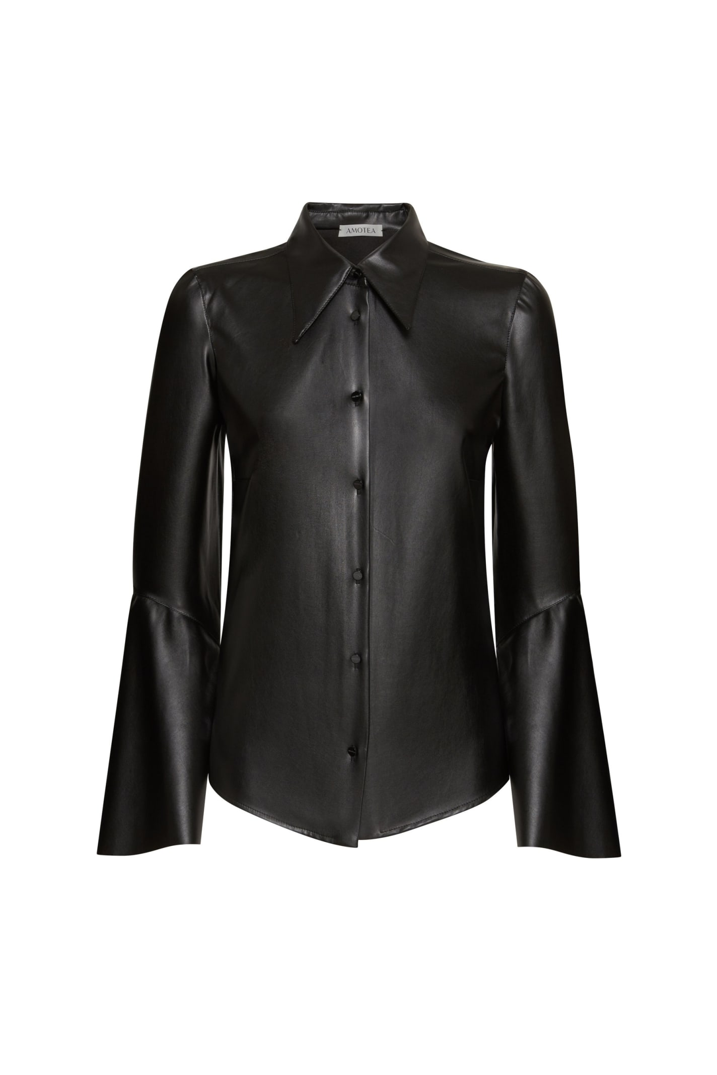Berna Shirt In Black Eco Leather