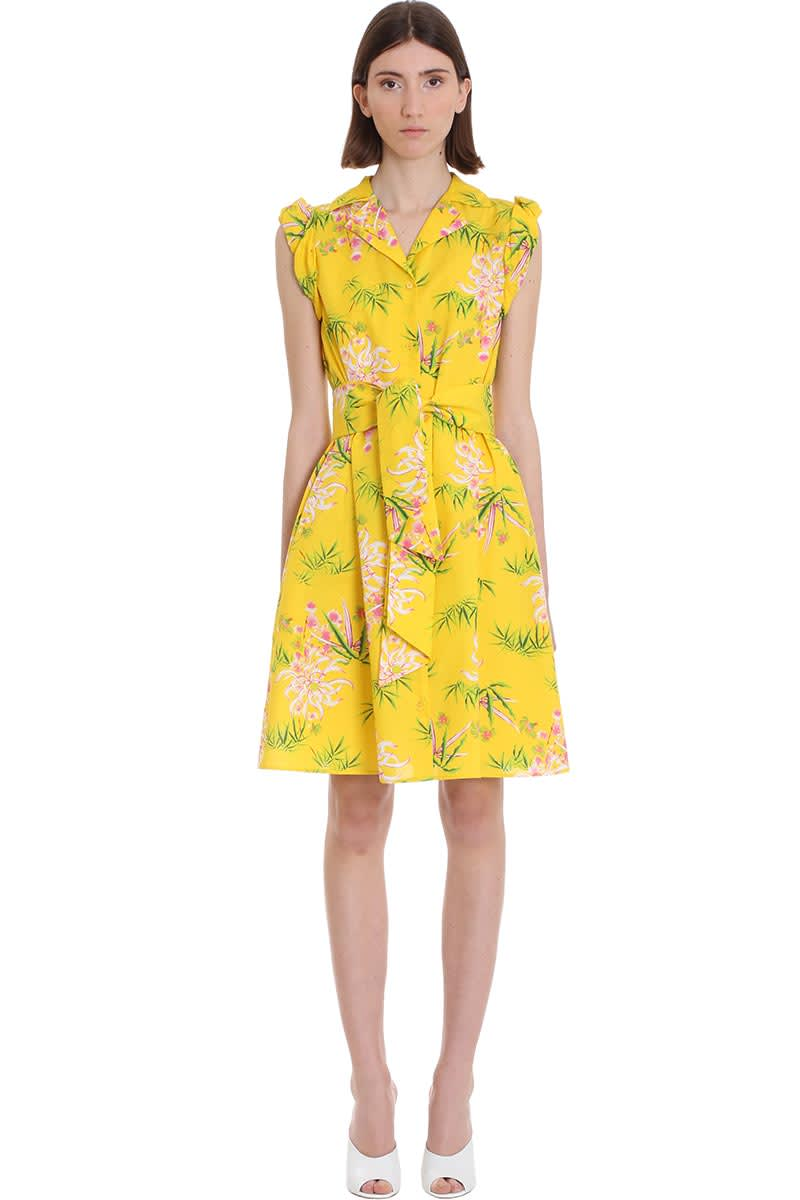 Buy Kenzo Dress In Yellow Cotton online, shop Kenzo with free shipping