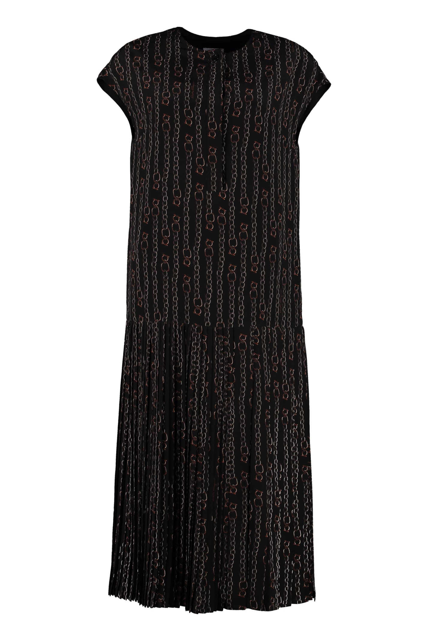Salvatore Ferragamo Plated Skirt Dress