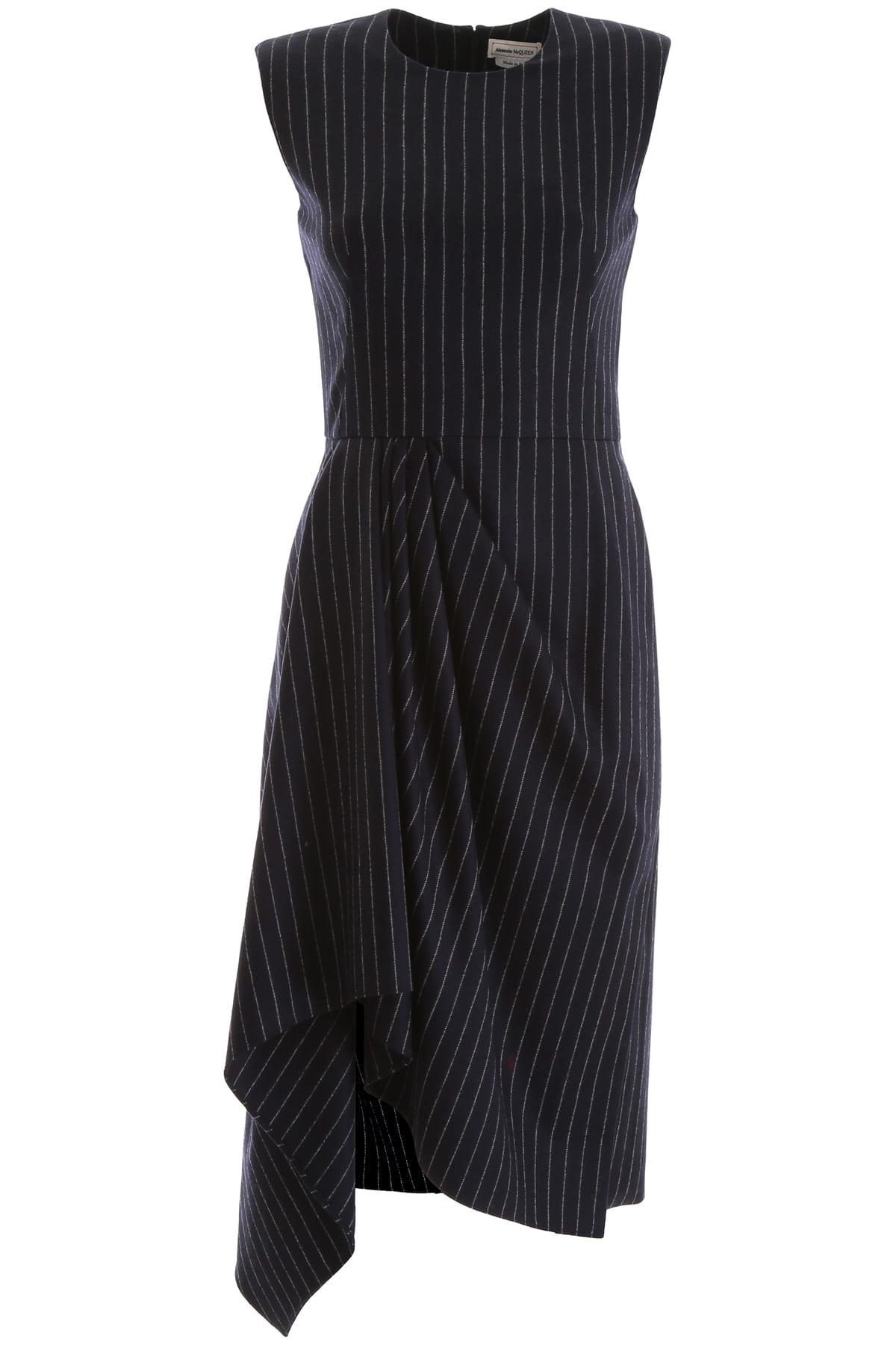 Alexander McQueen Pinstriped Dress
