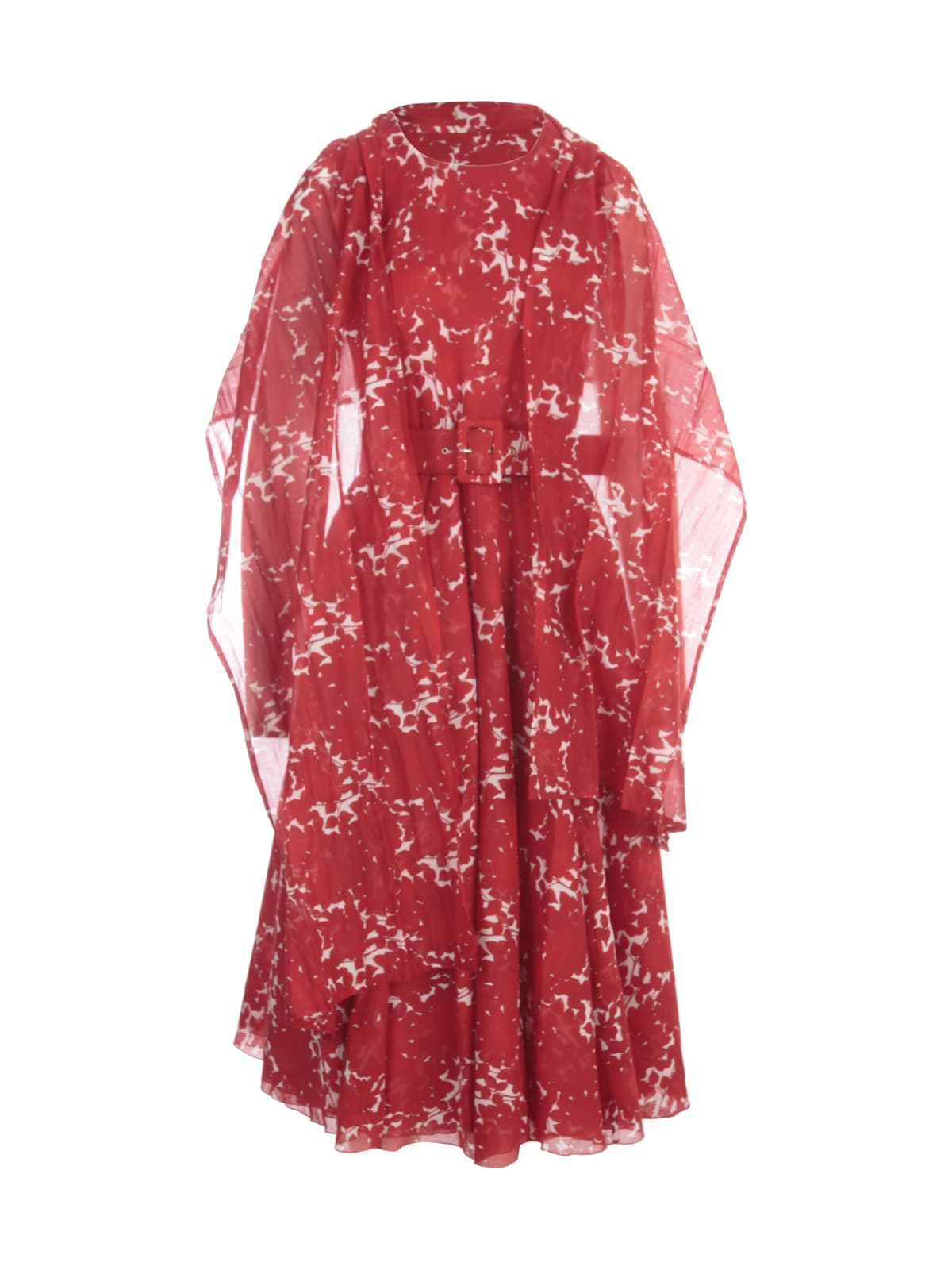 Buy Samantha Sung Aster Printed Midi Crew Neck Sleeveless Dress online, shop Samantha Sung with free shipping