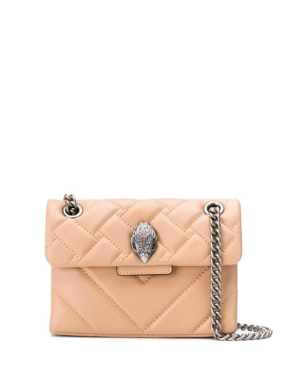 Kensington Beige Quilted Leather Crossbody Bag