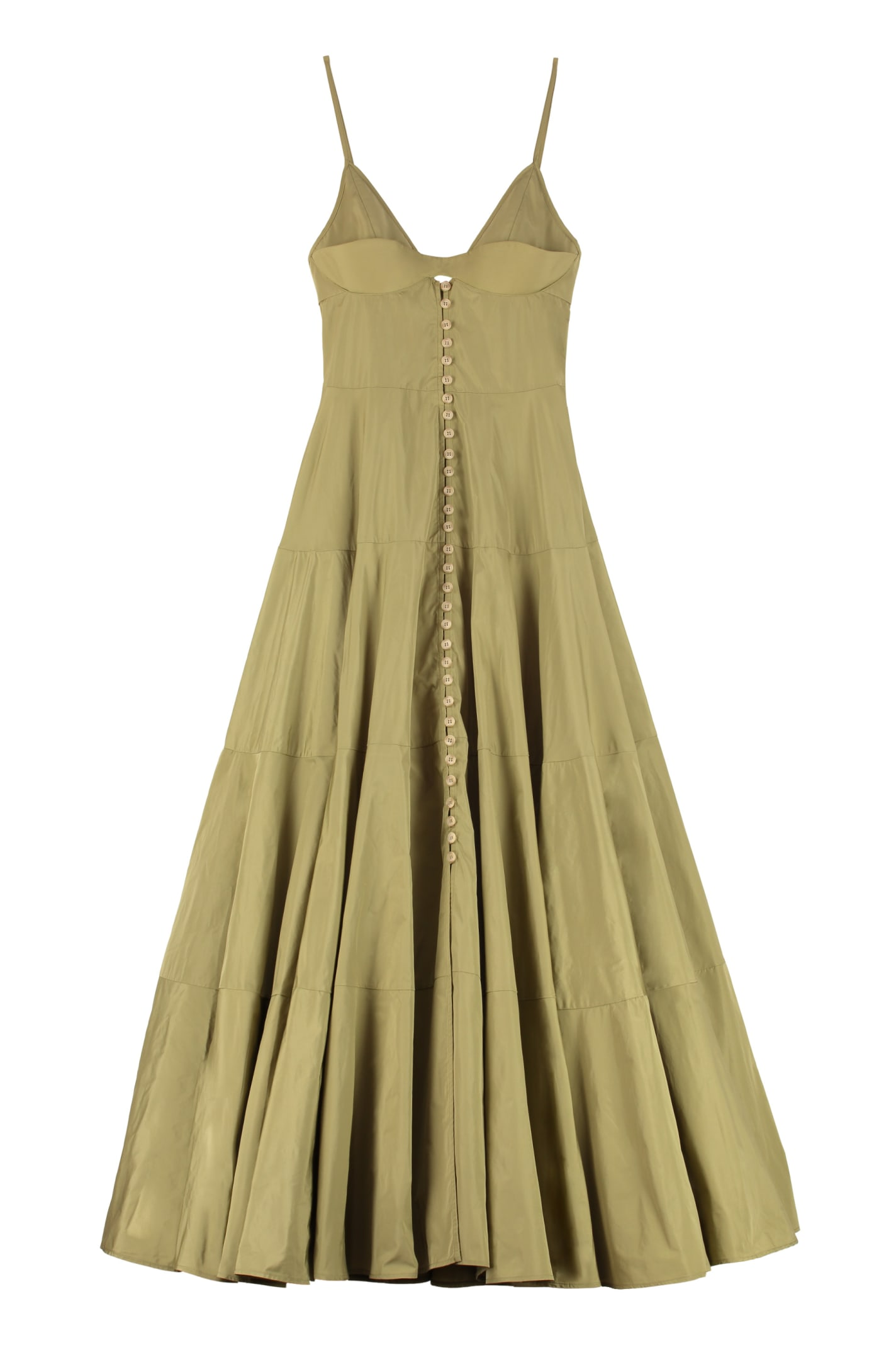 Buy Jacquemus Manosque Techno Taffetà Maxi Dress online, shop Jacquemus with free shipping