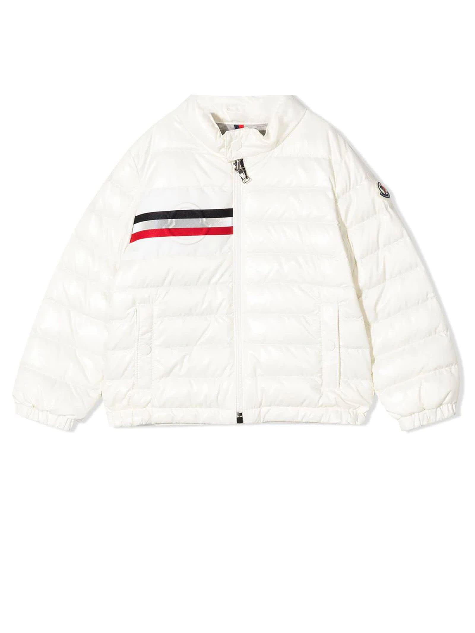 Moncler White Feather Down Jacket