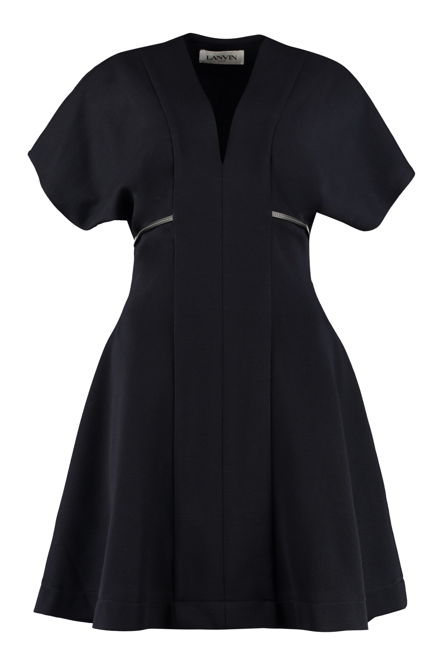 Buy Lanvin Belted Jersey Dress online, shop Lanvin with free shipping