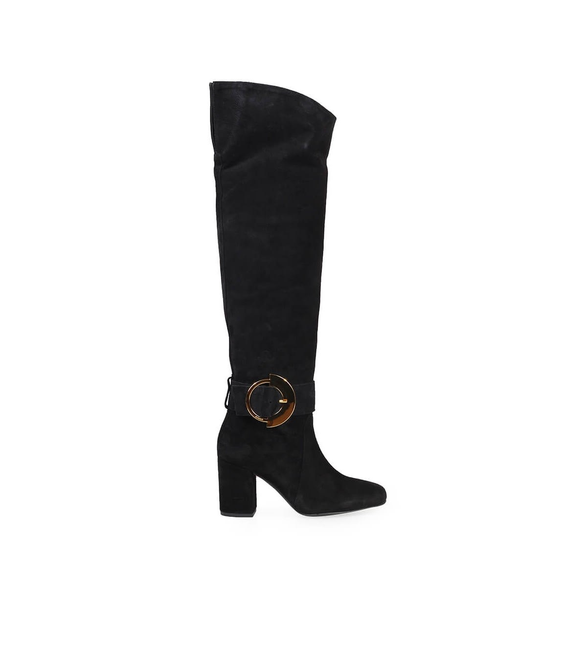 Pinko LAETITIA BLACK SUEDE HIGH KNEE BOOT