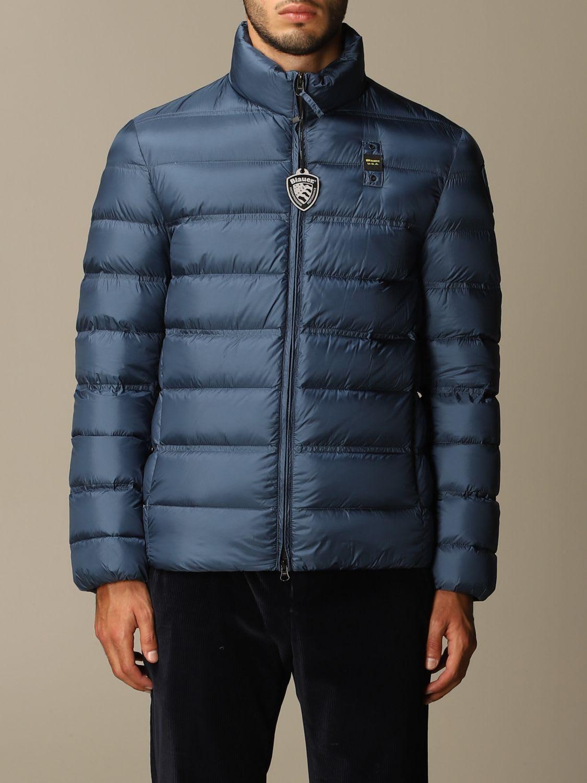 Blauer Down Jacket In Light Nylon In Navy