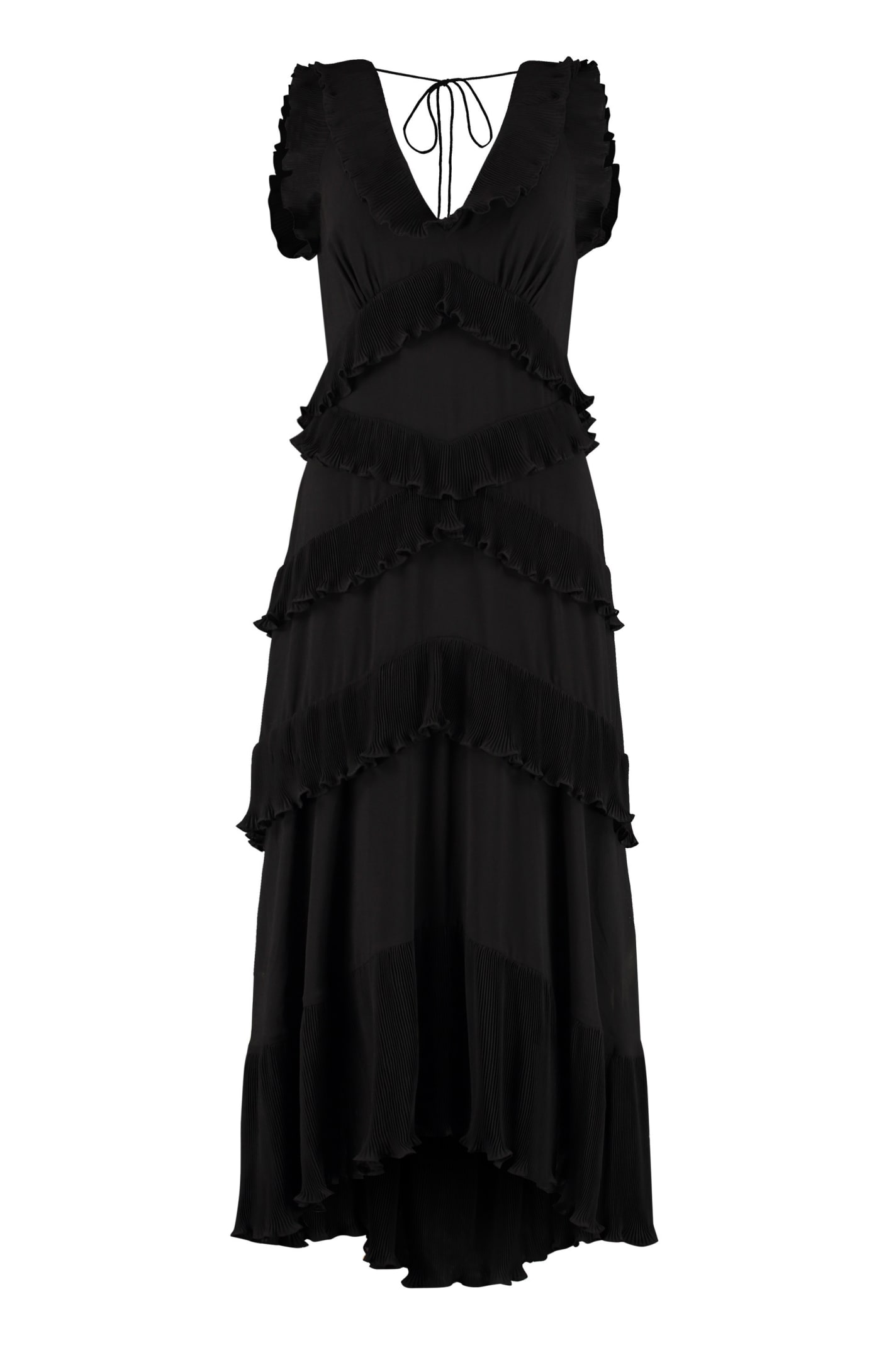 Buy Zimmermann Pleated Ruffle Dress online, shop Zimmermann with free shipping