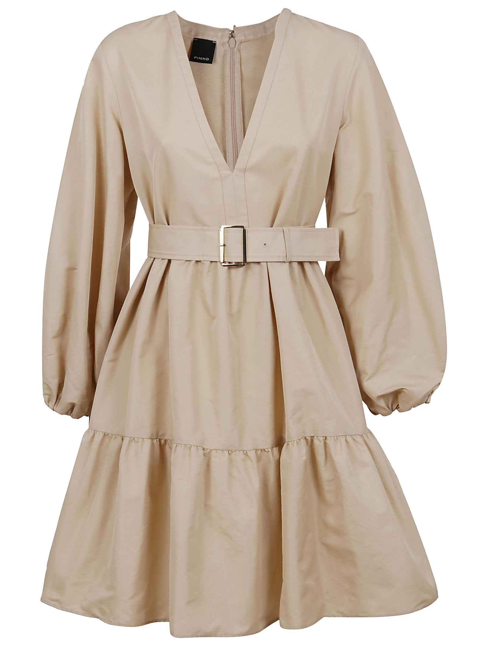 Buy Beige Technical Fabric Dress online, shop Pinko with free shipping