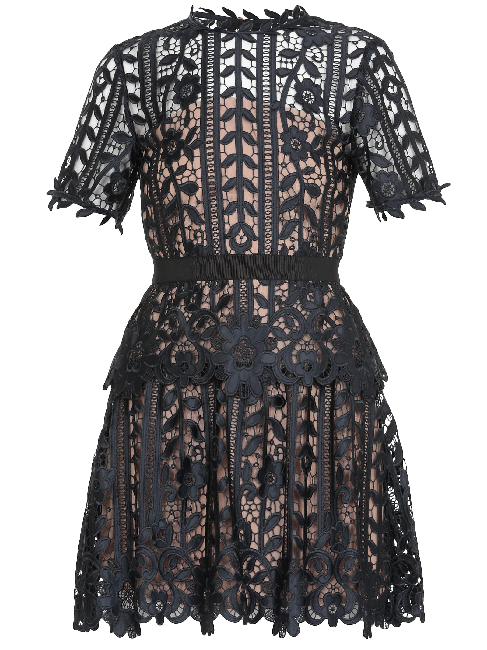Buy Laces Dress online, shop self-portrait with free shipping