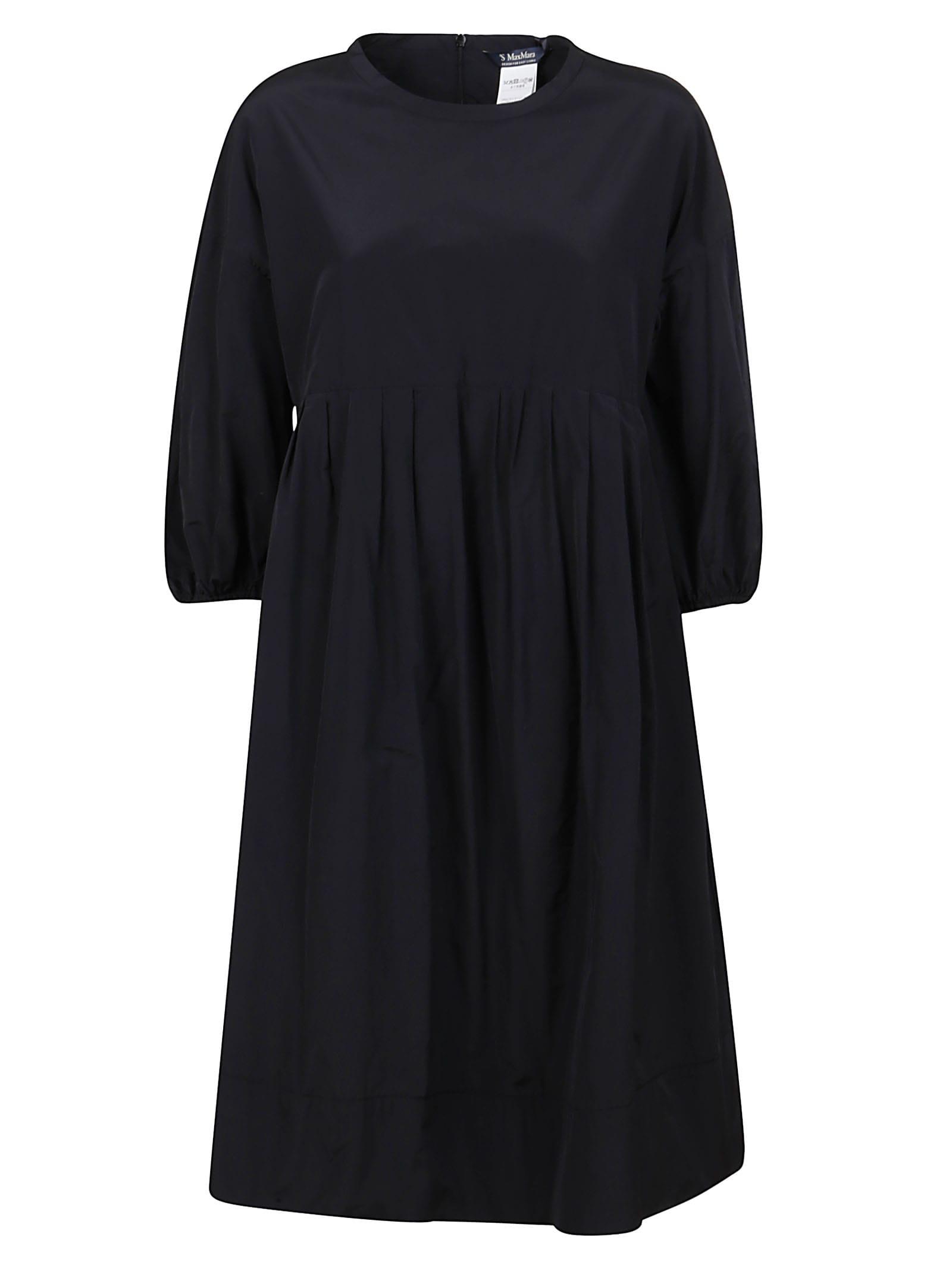 Buy S Max Mara Black Technical Fabric Dress online, shop S Max Mara with free shipping