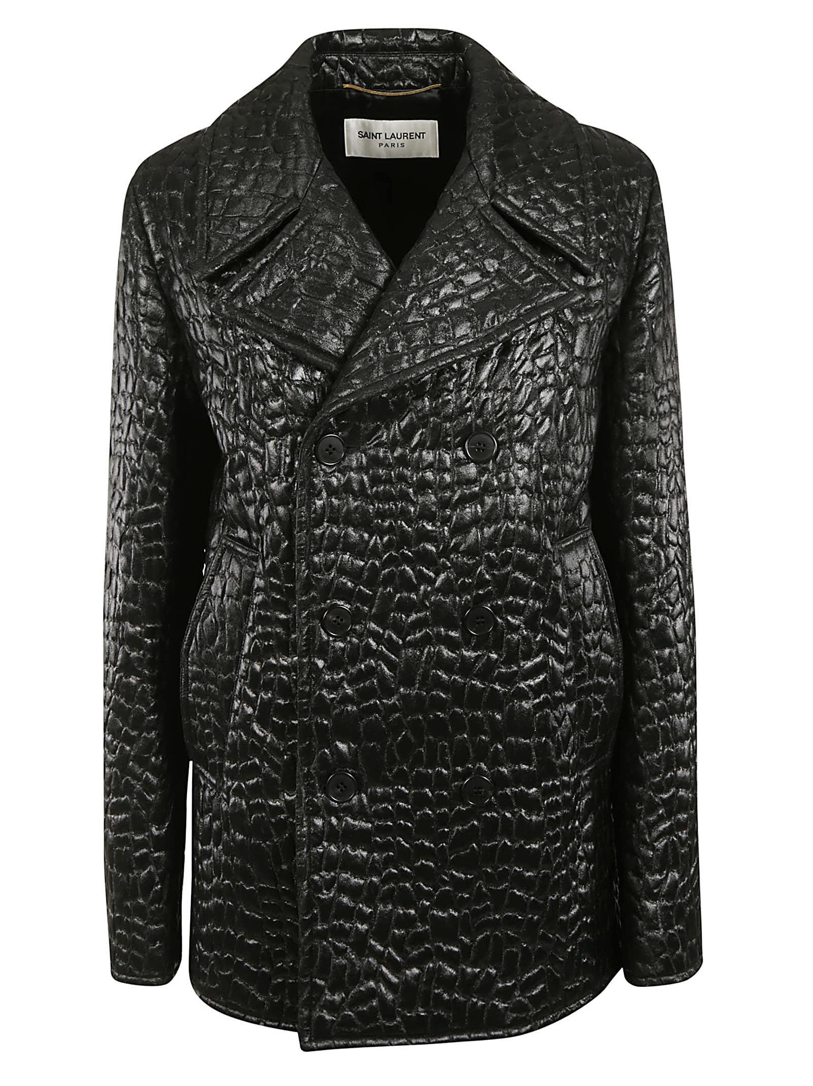 Saint Laurent Double Breasted Coat