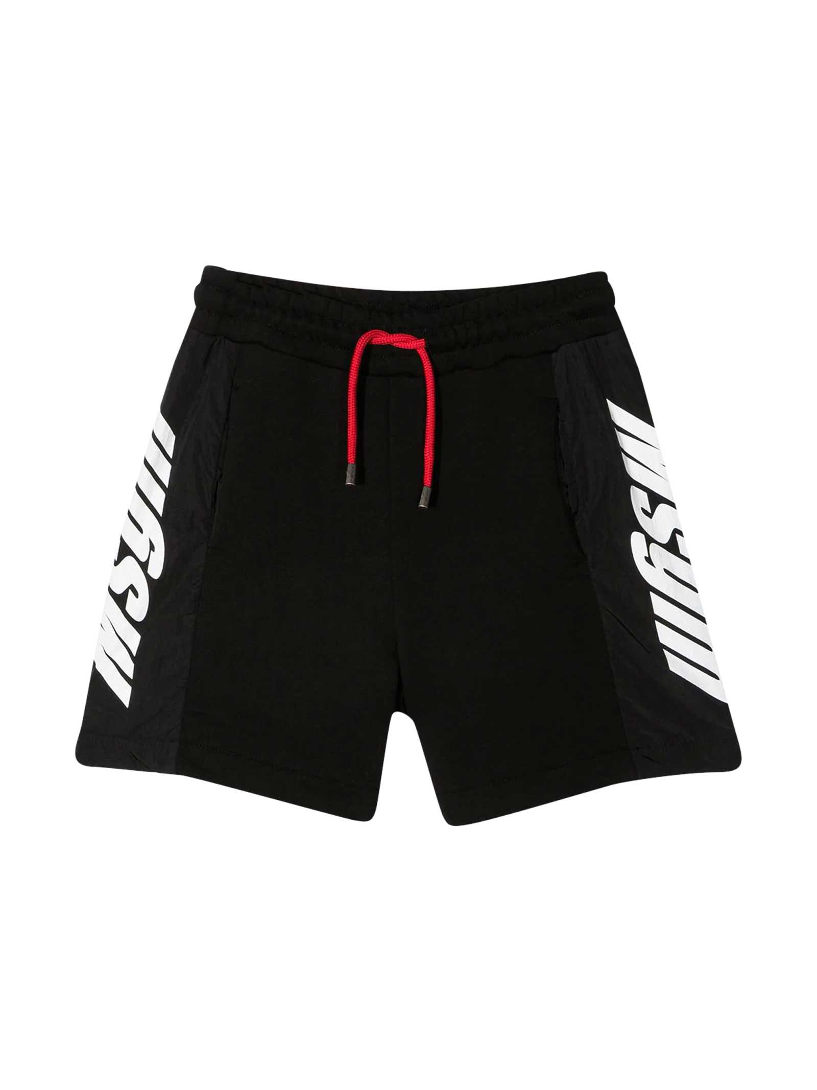Msgm Shorts BLACK SHORTS