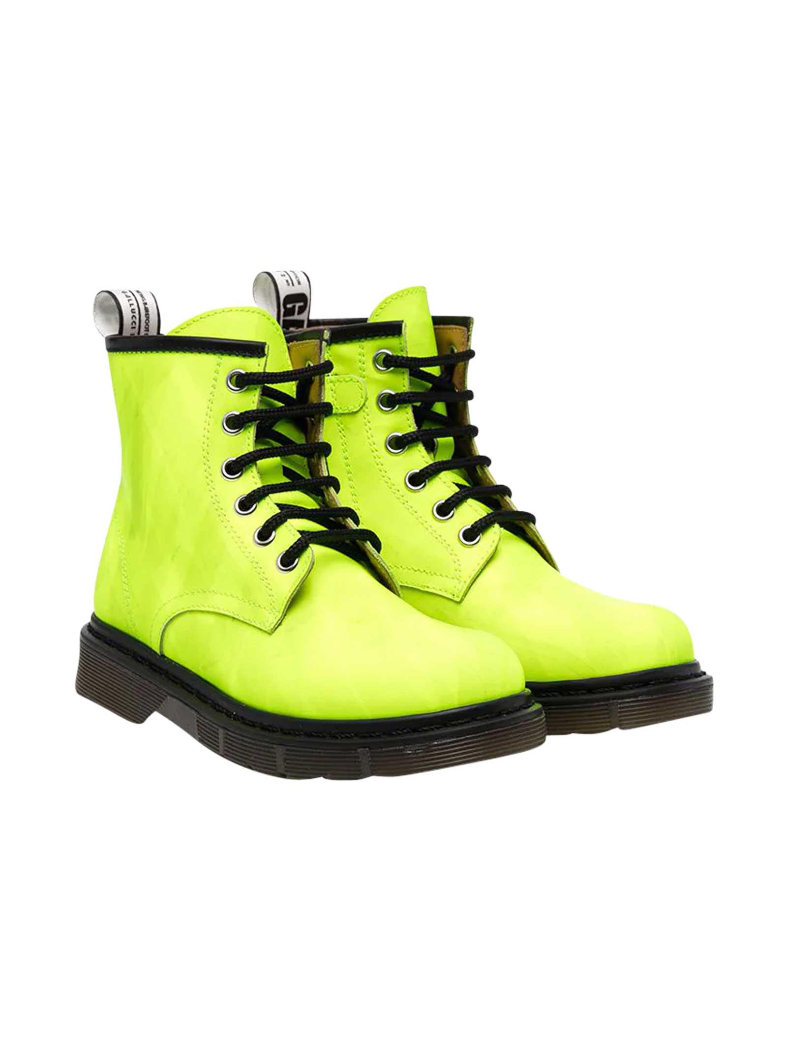 Gallucci TEEN GREEN COMBAT BOOTS