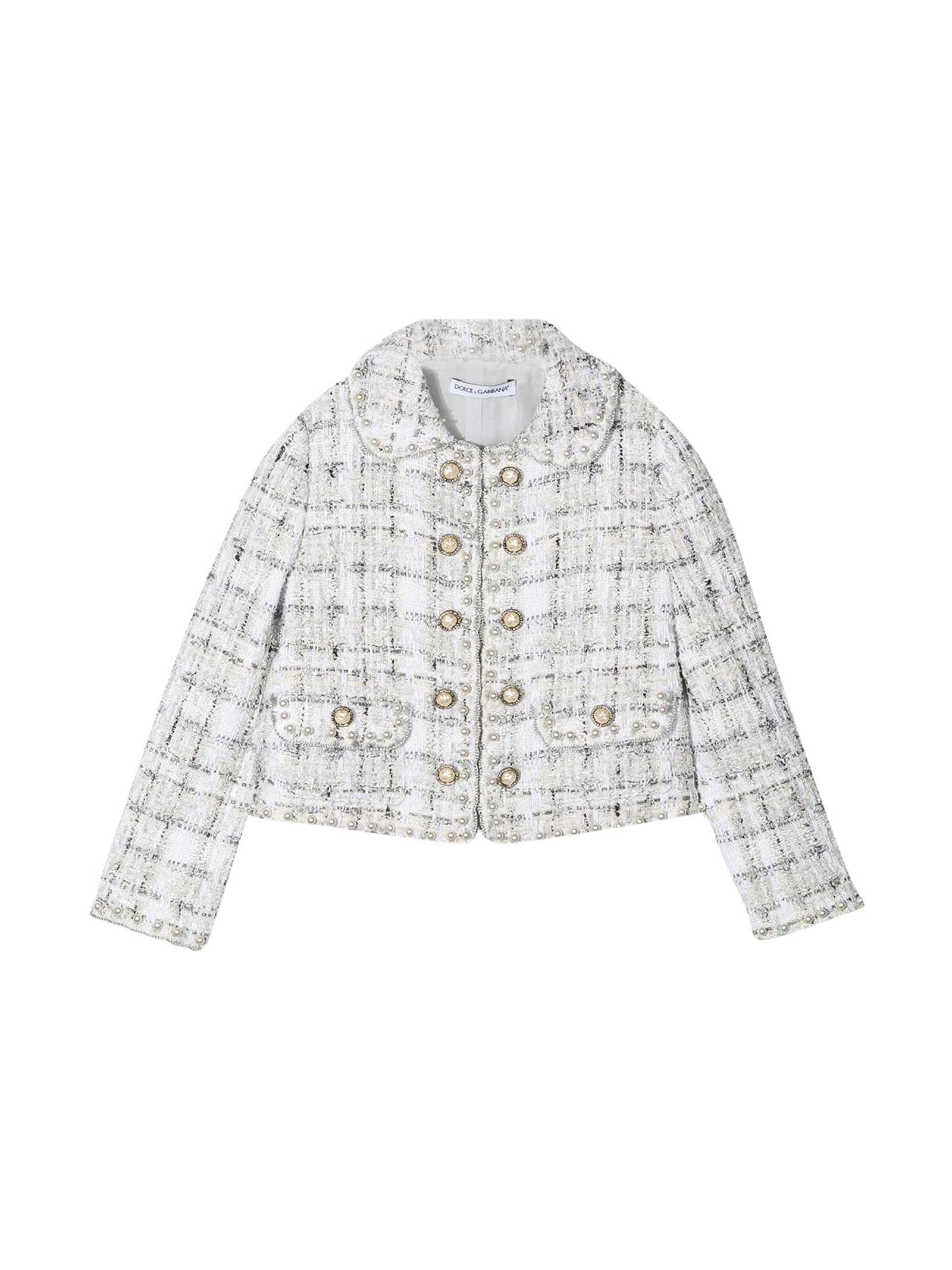 Dolce & Gabbana WHITE TWEED JACKET