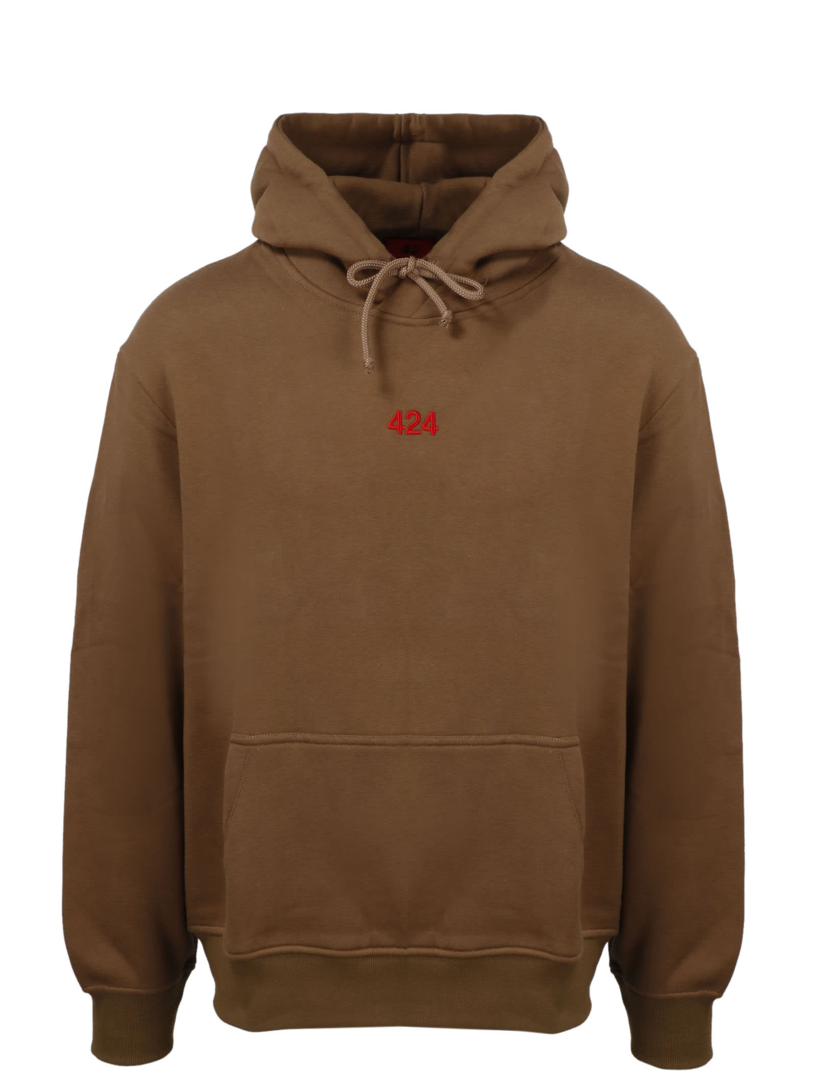 Fourtwofour On Fairfax Cottons 424 EMBROIDERED HOODIE