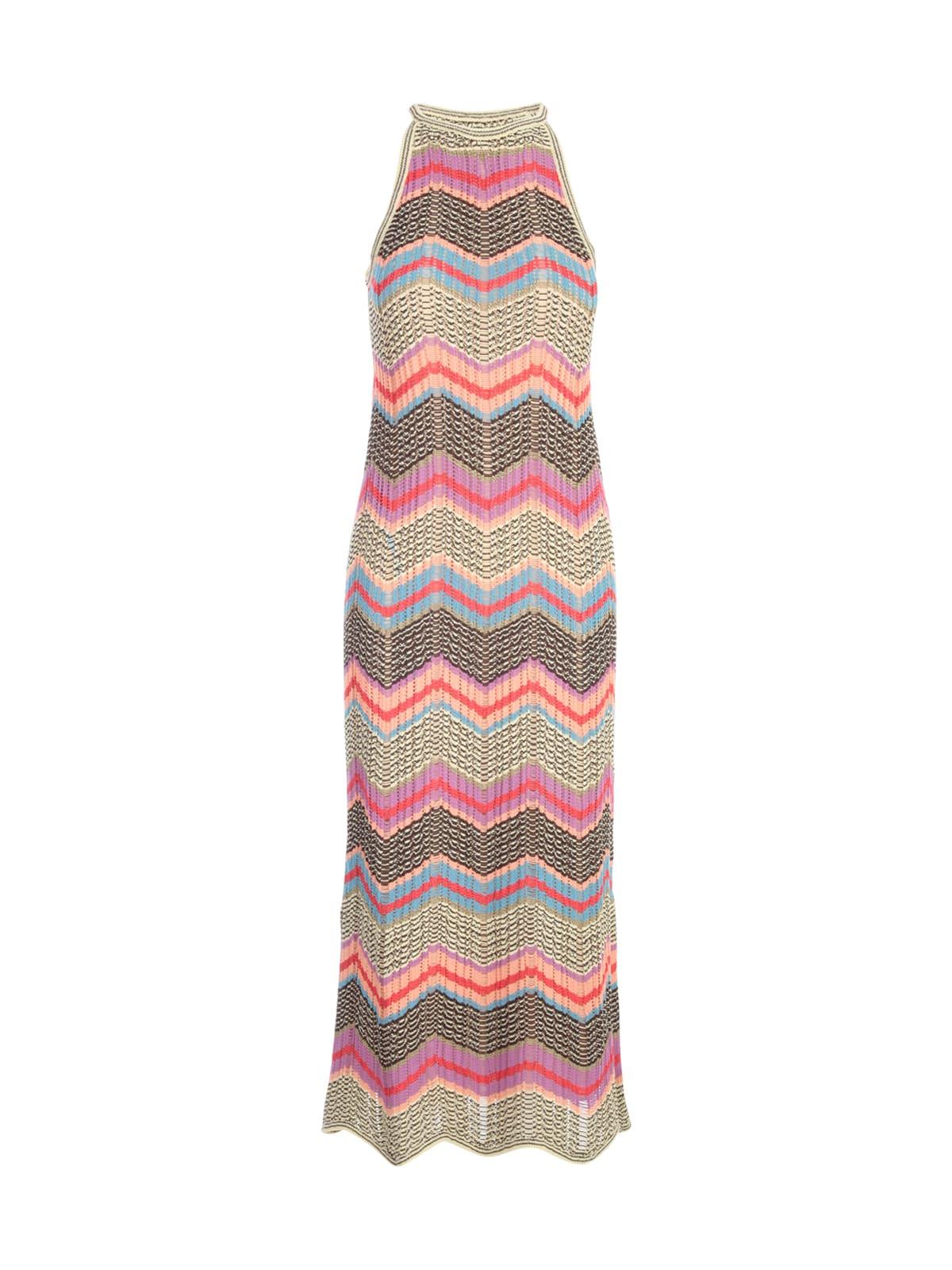Buy M Missoni Long Crew Neck Sleeveless Midi Dress online, shop M Missoni with free shipping