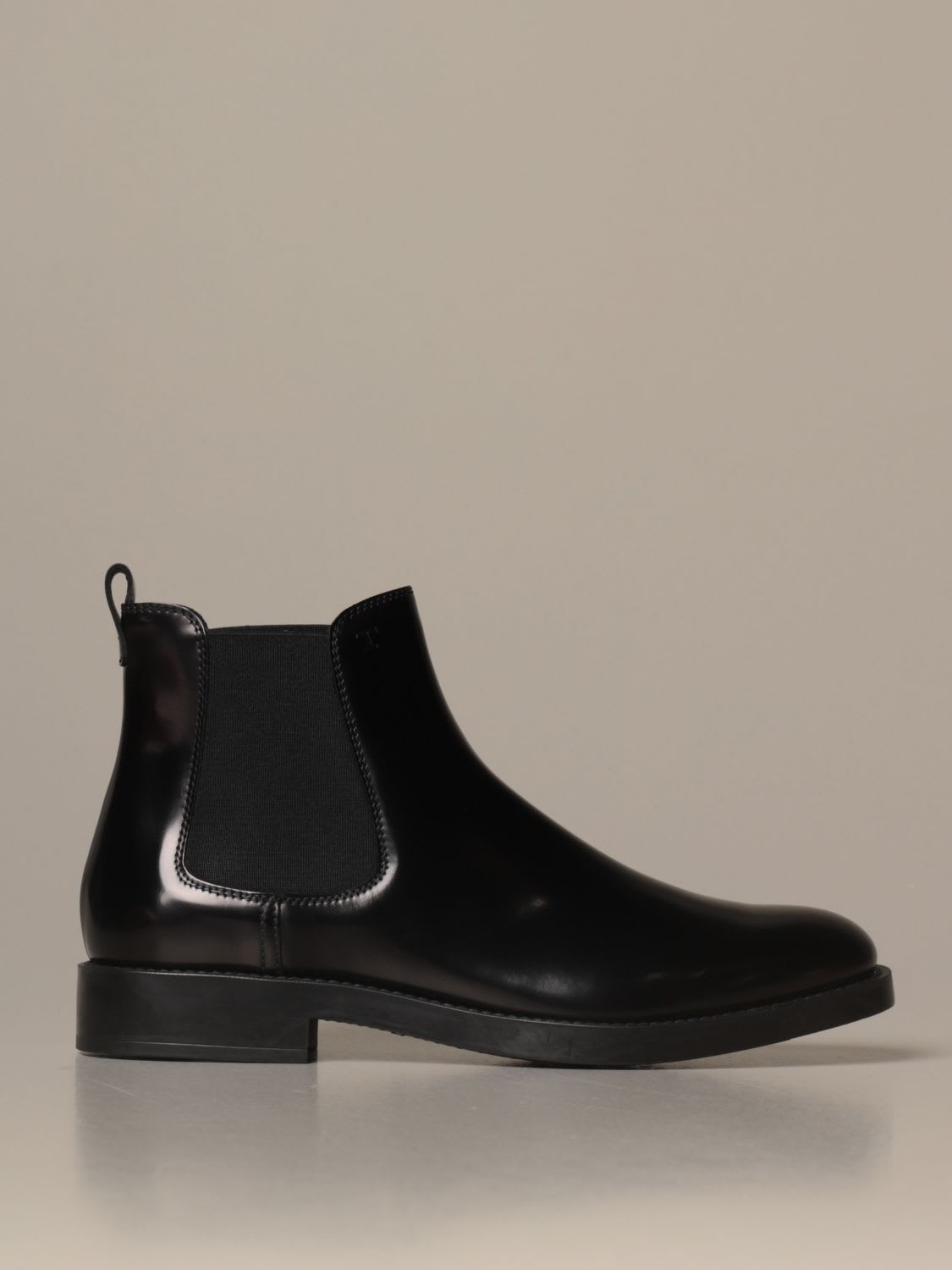 Tods Flat Booties Tods Ankle Boot In Brushed Leather