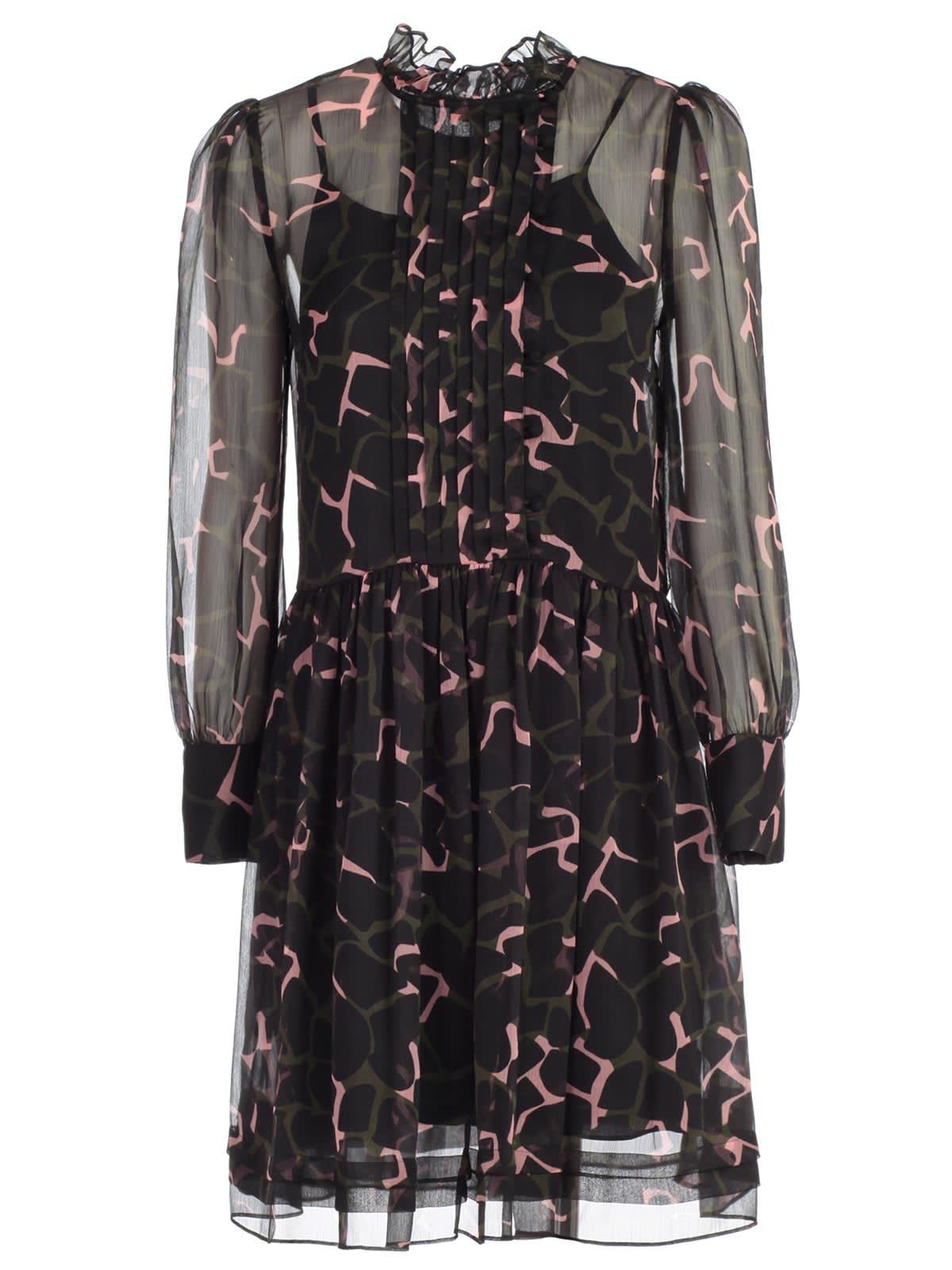 Emporio Armani Dress L & s Giraffe Print