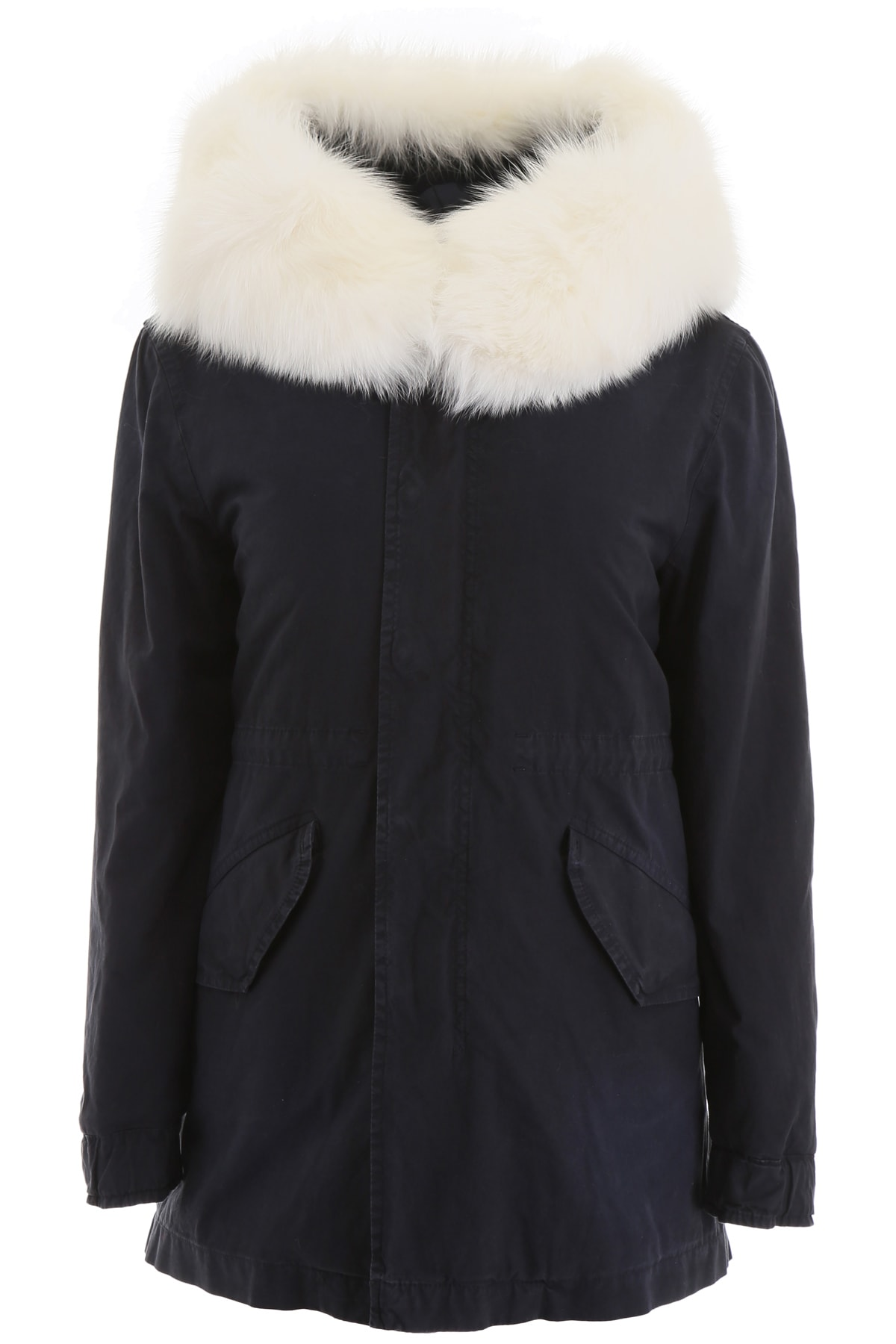 Mr & Mrs Italy Short Parka With Fur And Shearling