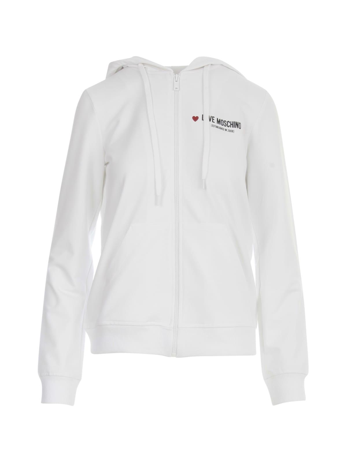 Love Moschino Hooded Jacket W/heart Logo