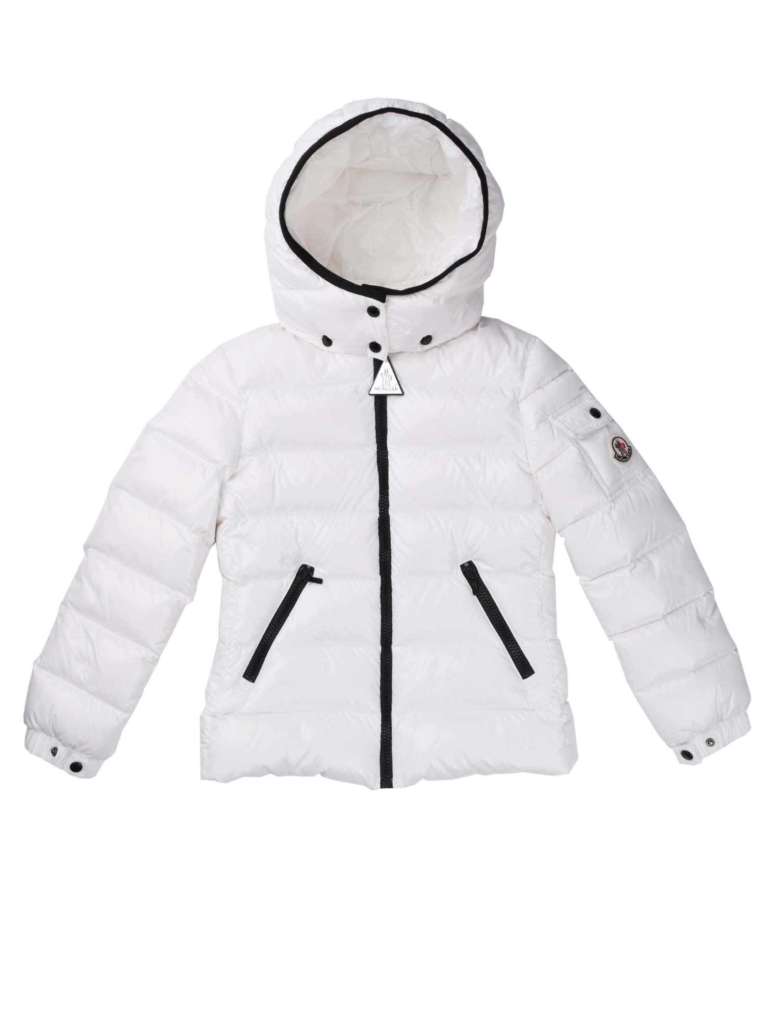 Moncler Bady White Jacket With Hood