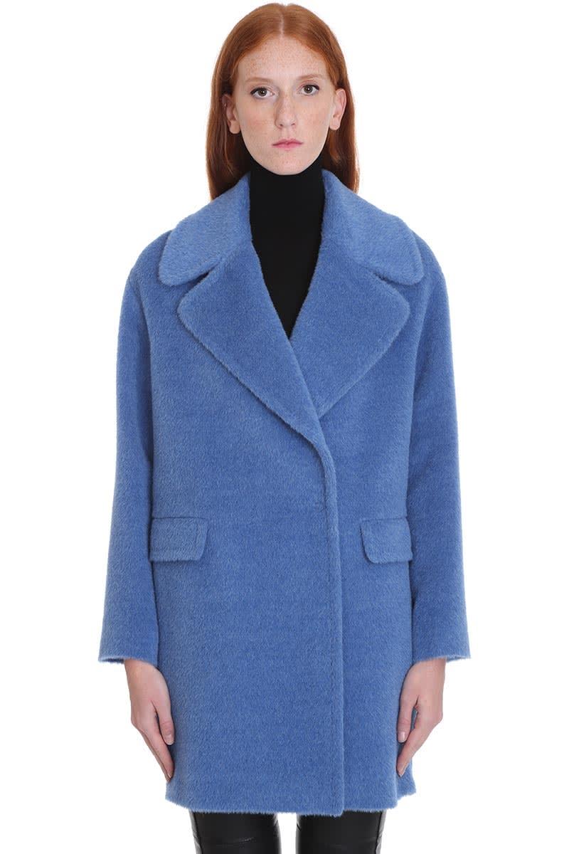 Tagliatore 0205 Astrid Coat In Cyan Wool
