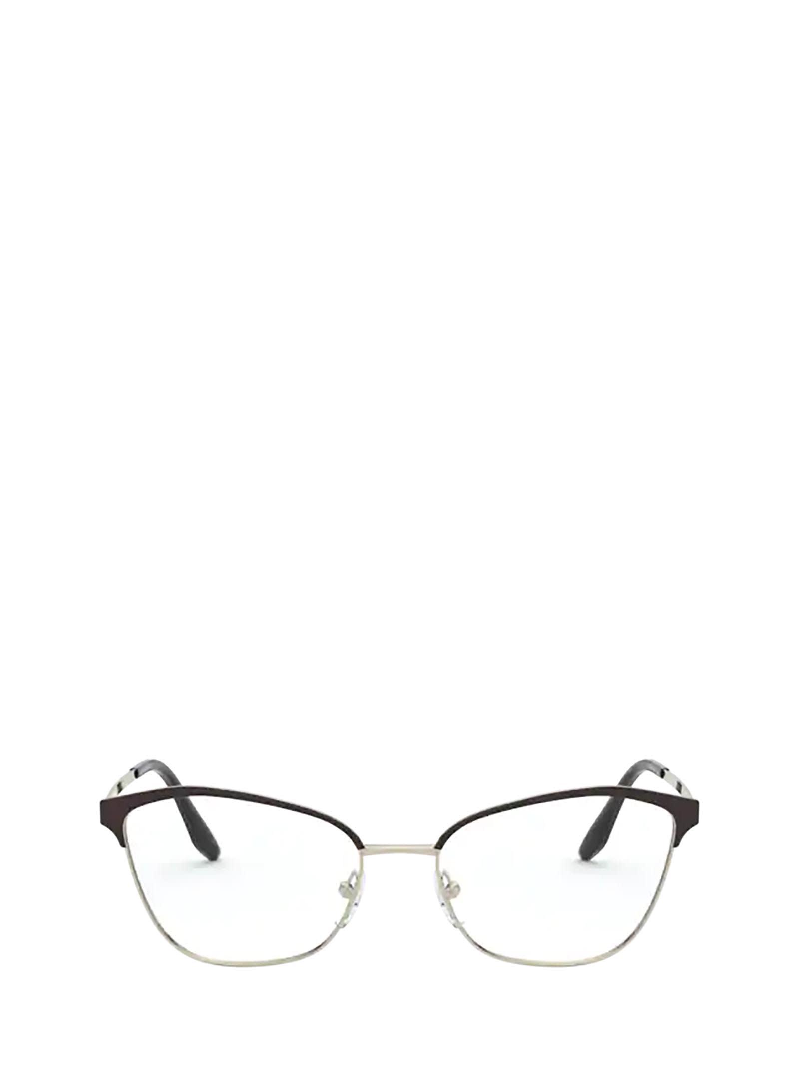 Prada Prada Pr 62xv Black / Light Gold Glasses