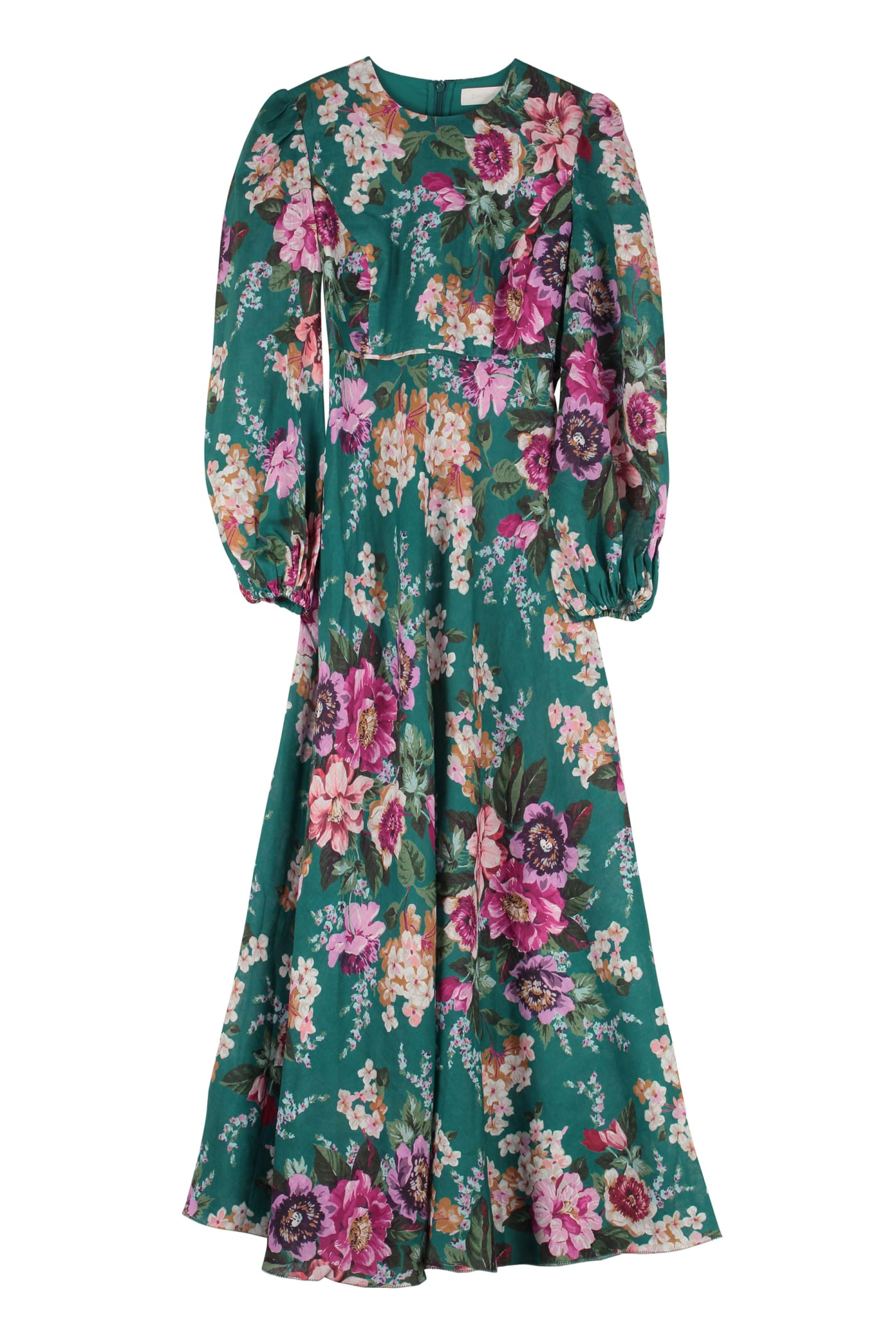 Zimmermann Allia Printed Linen Maxi Dress