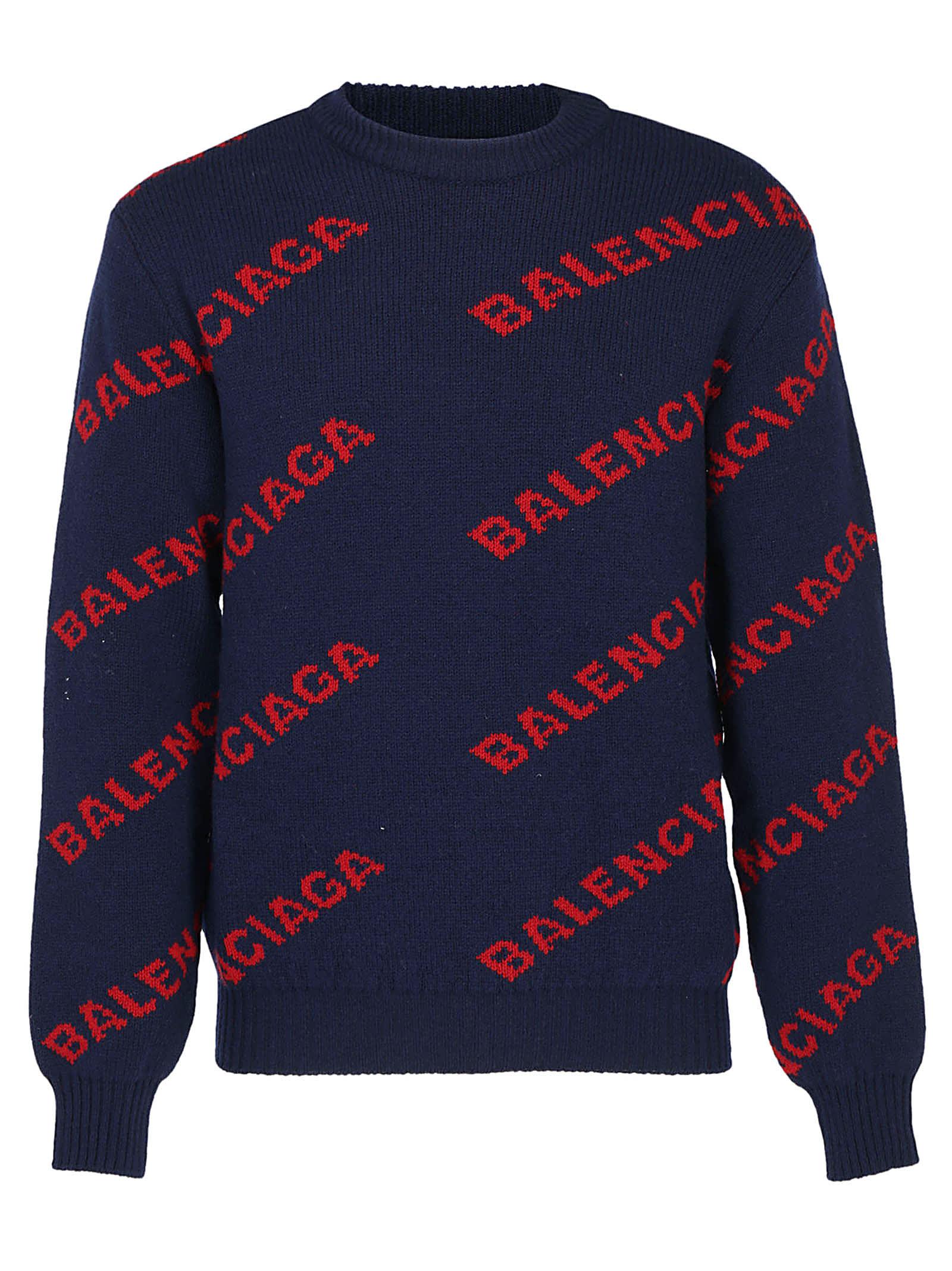 0e06eb40457 Balenciaga Logo Wool Knitwear