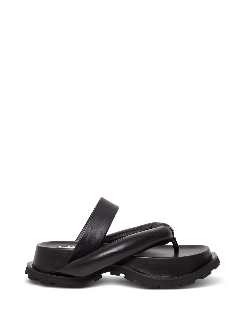 Jil Sander OUTDOOR PLATFORM SANDALS IN NAPPA LEATHER