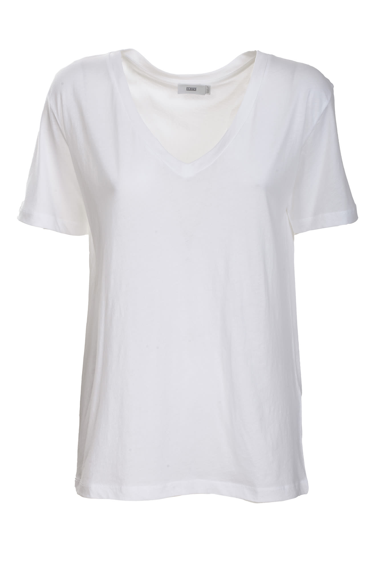 Closed cotton jersey t-shirt