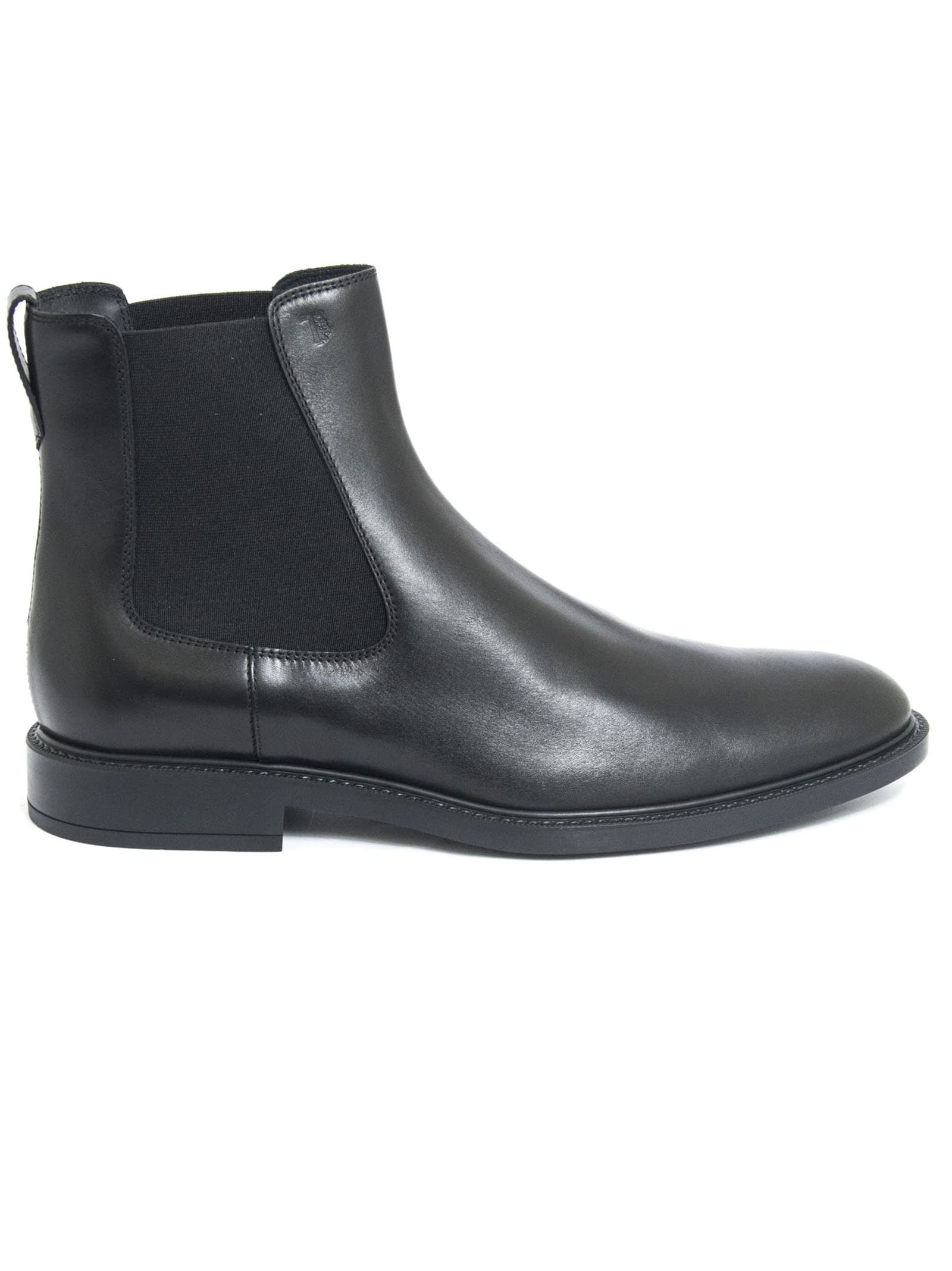 Tods Ankle Boots In Black Smooth Leather