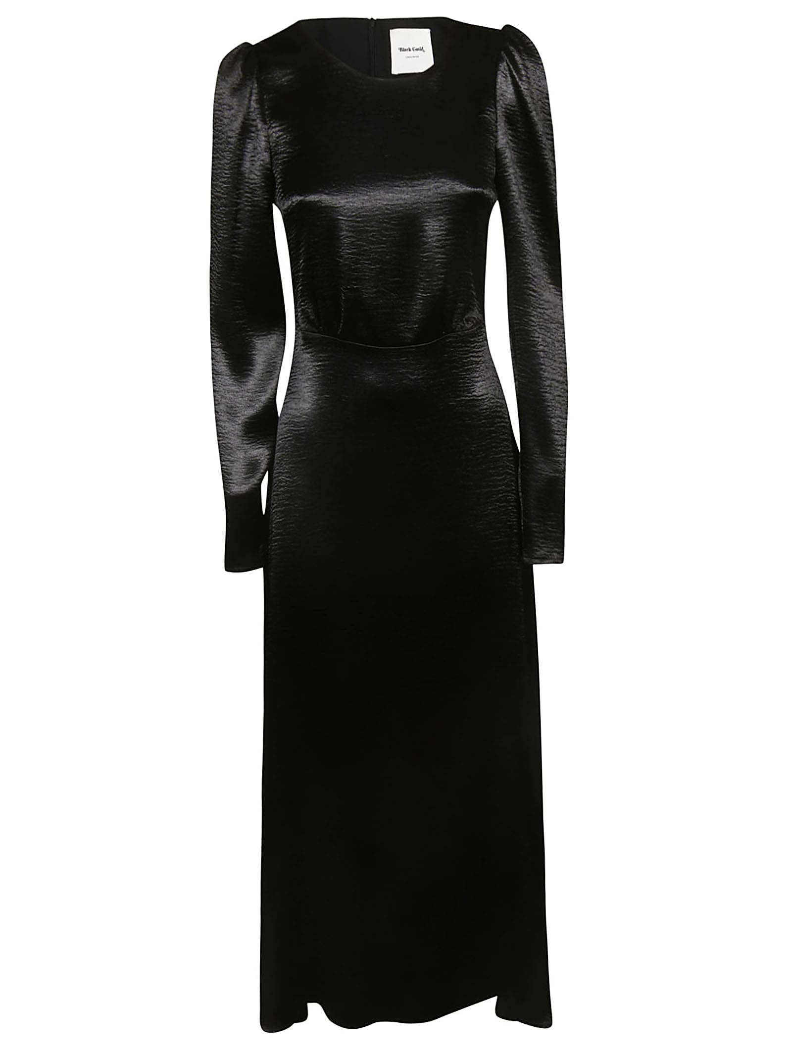 Black Coral Long Sleeves Dress