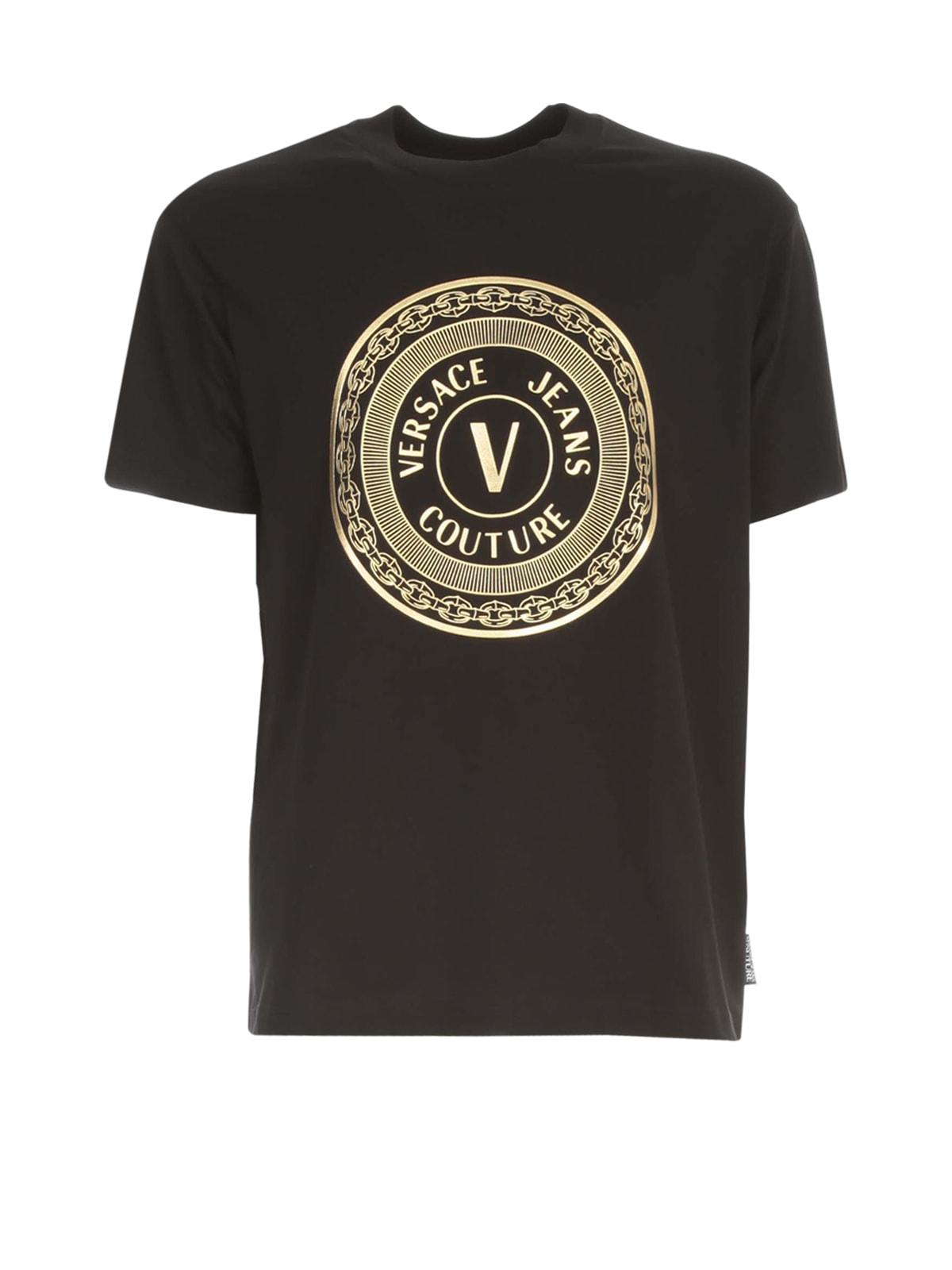 Versace Jeans Couture Cotton T-shirt Circle Logo Reg 48 Foil