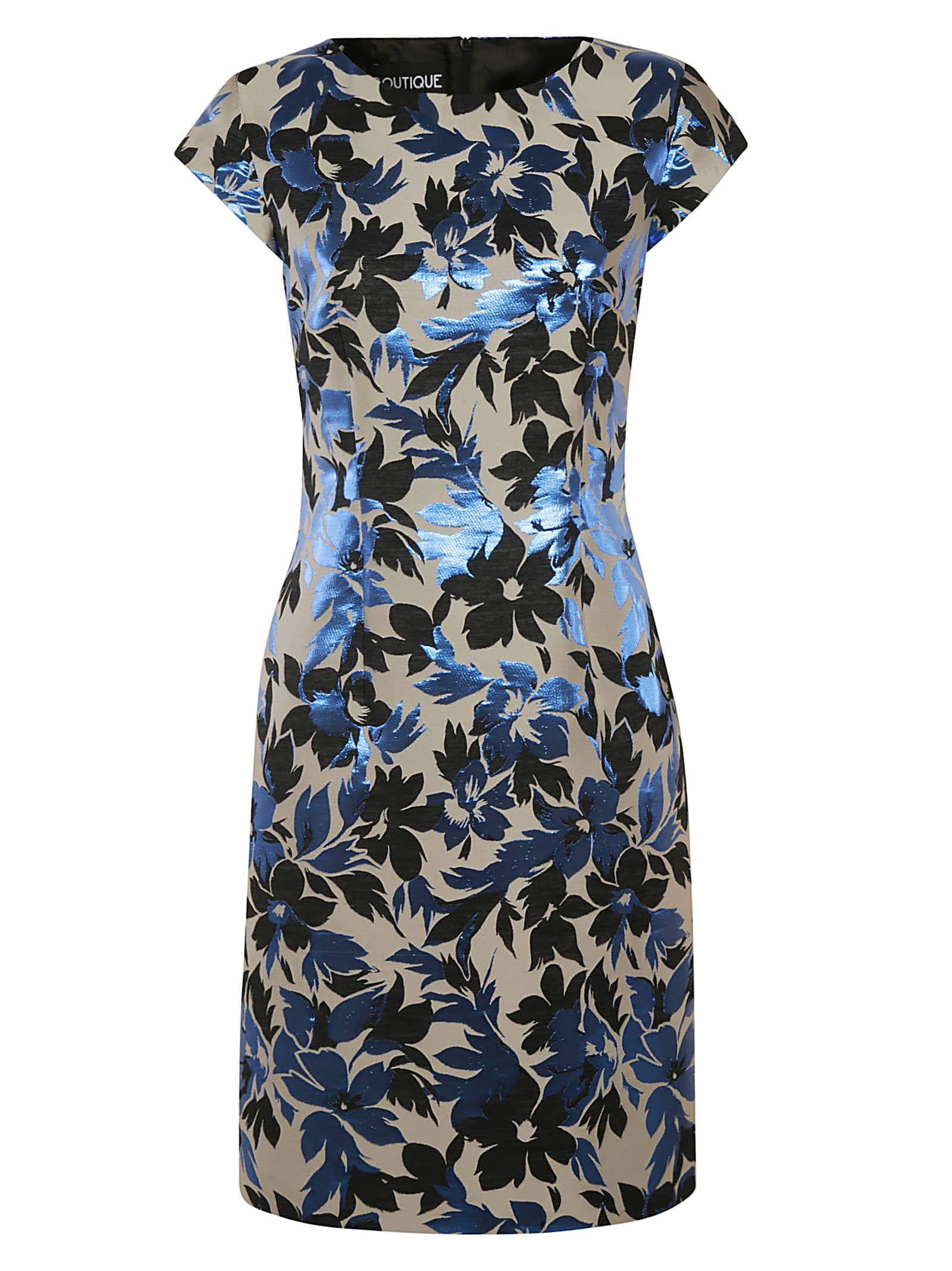 Buy Moschino Floral Print Capped Sleeve Dress online, shop Moschino with free shipping
