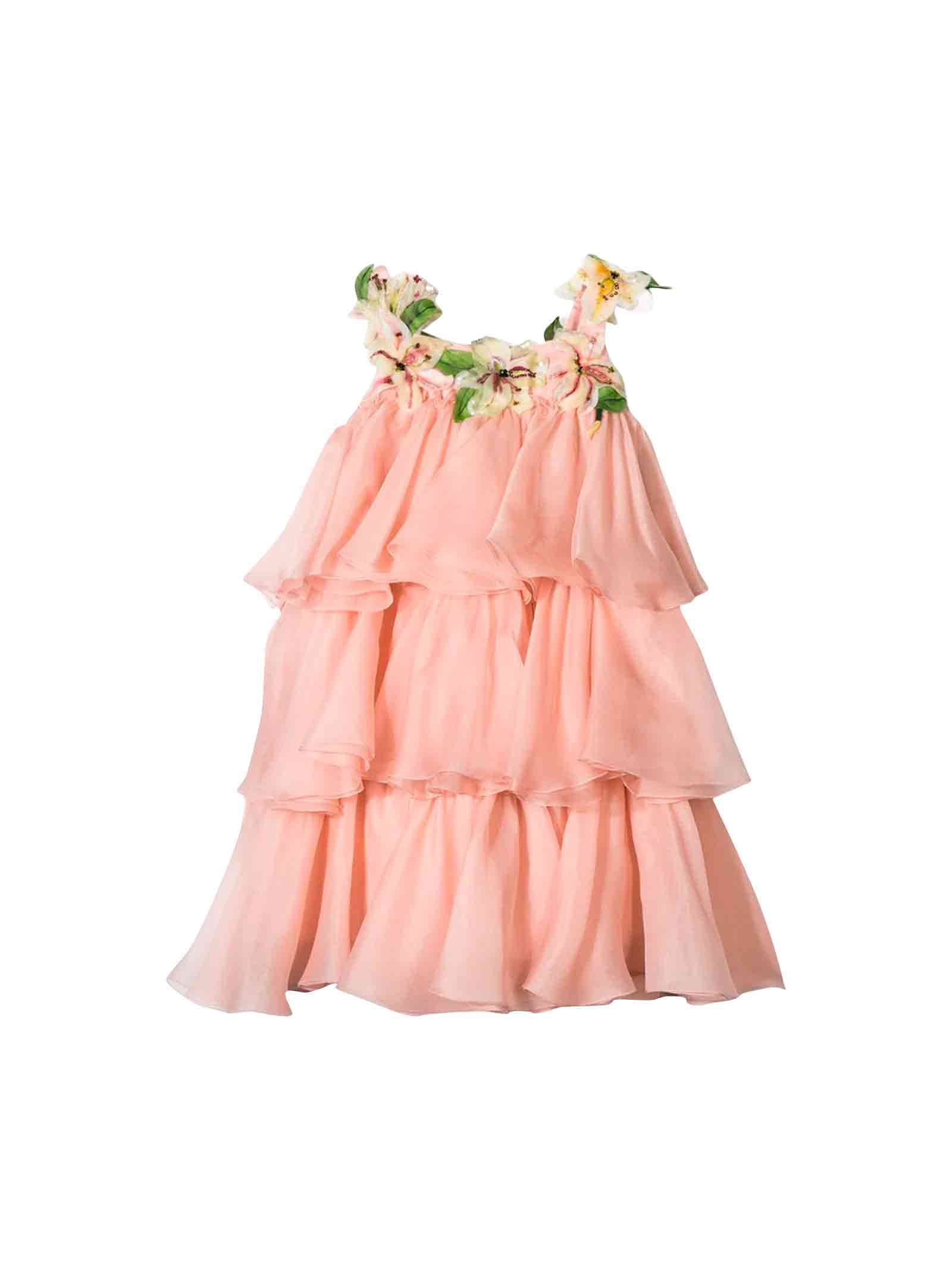 Dolce & Gabbana Girl Pink Dress Dolce And Gabbana Kids