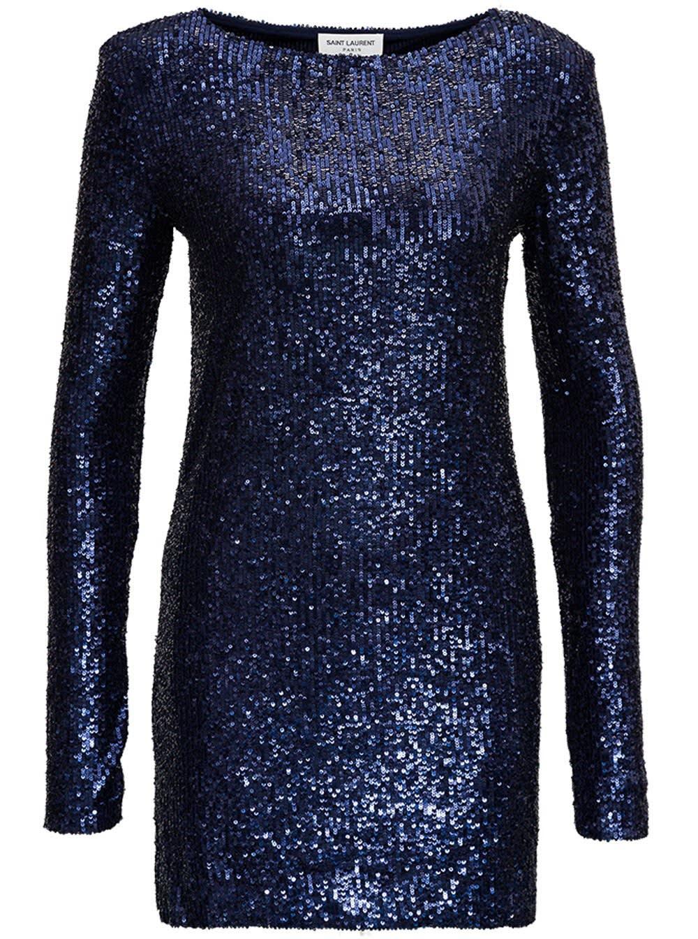 Saint Laurent Sequined Short Dress