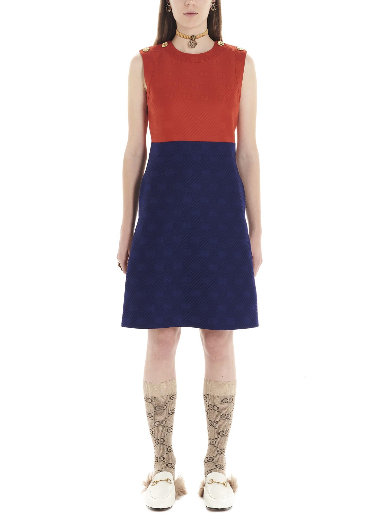 Buy Gucci gg Diagonal Dress online, shop Gucci with free shipping