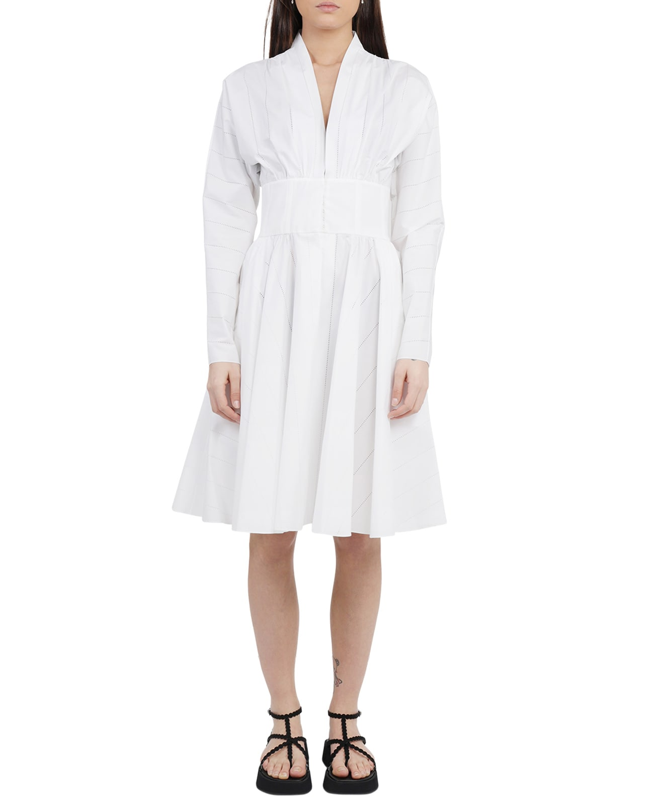 Alaia White Bustier Dress