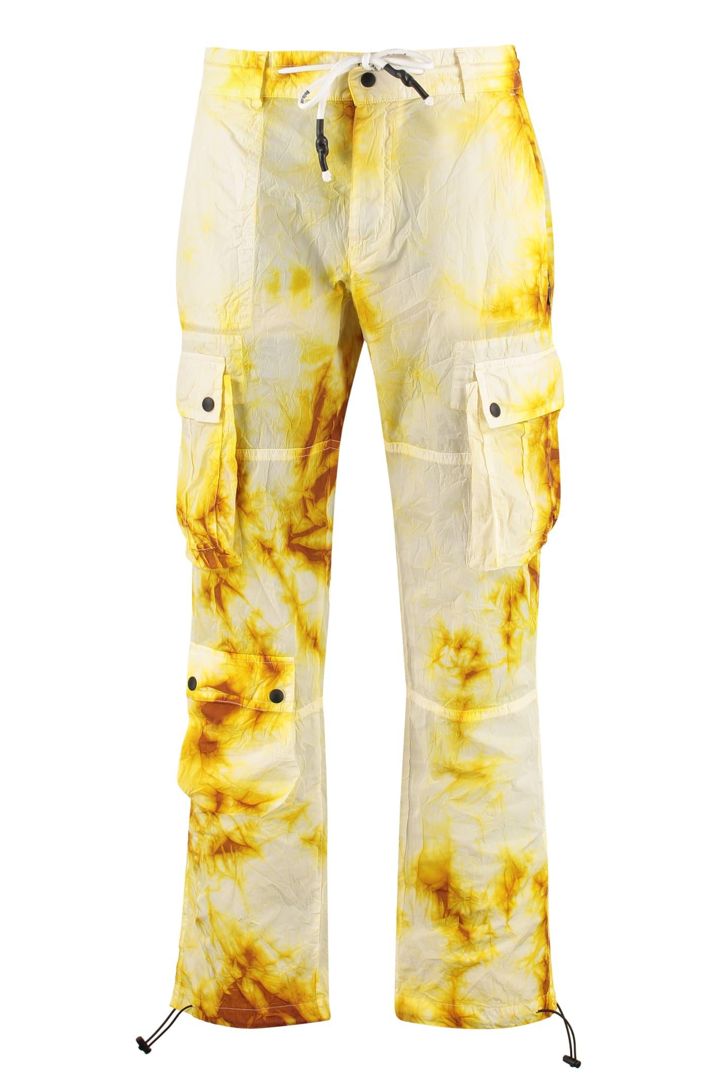 Palm Angels Tie-dye Cargo Trousers