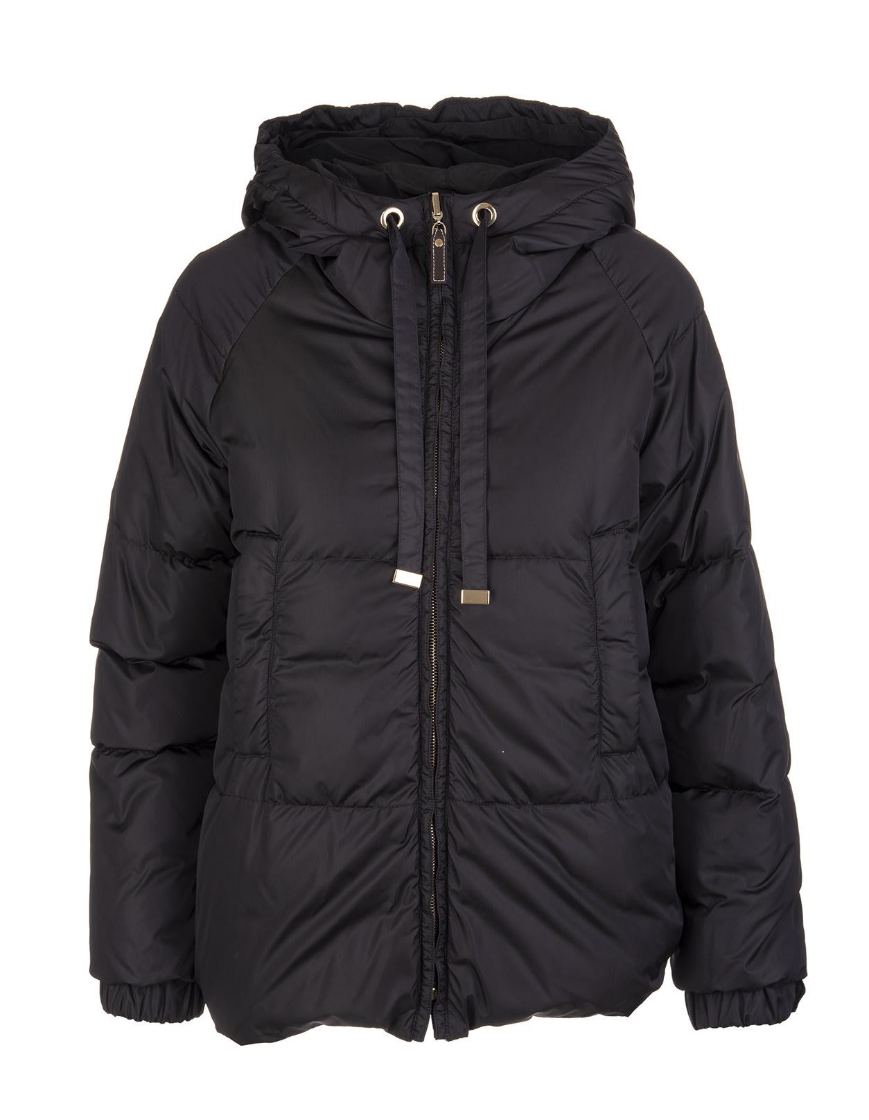 Black Sportmi Short Down Jacket
