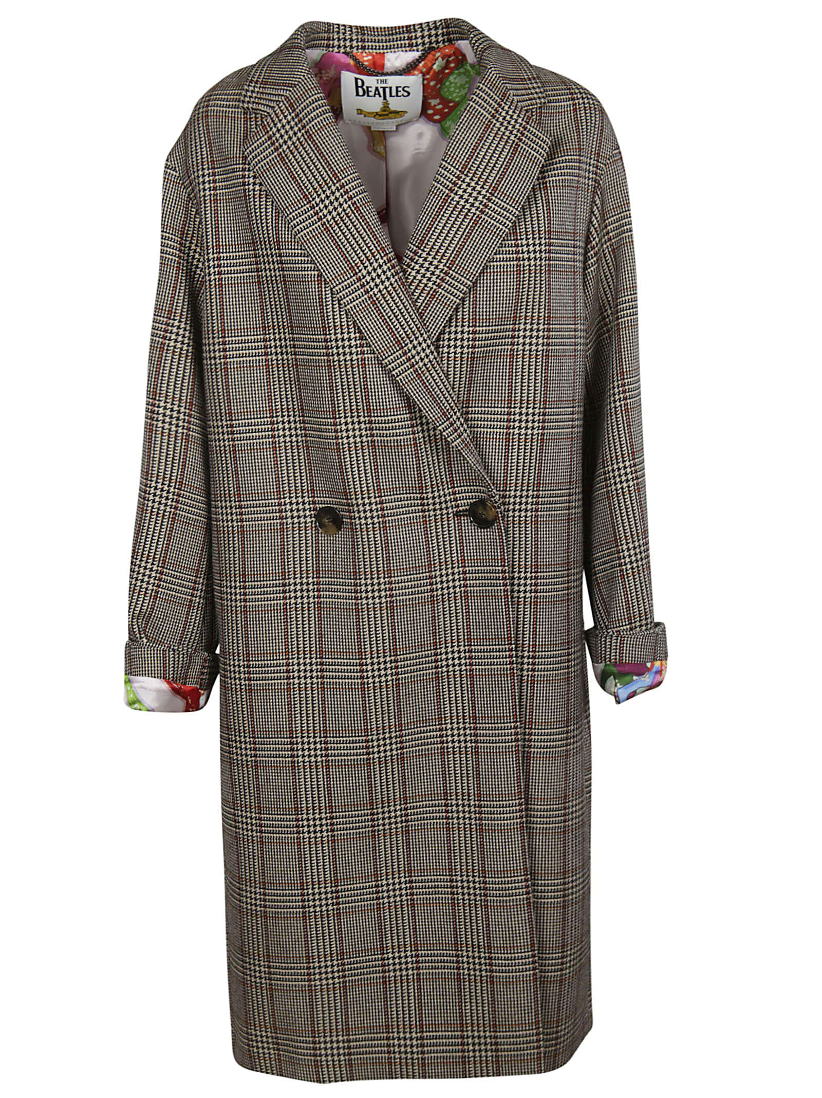 Stella McCartney Coat Prince Of Wales Check Coating