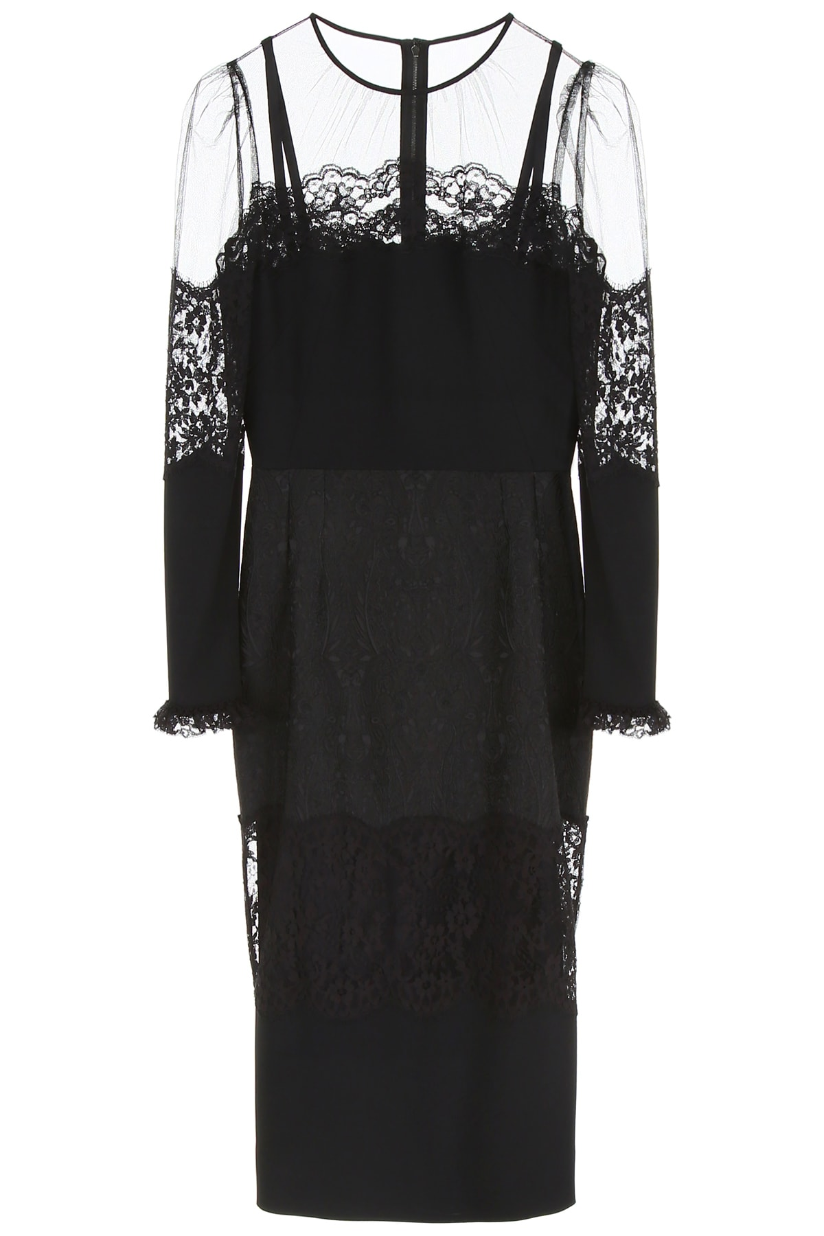 Buy Dolce & Gabbana Dress With Lace online, shop Dolce & Gabbana with free shipping