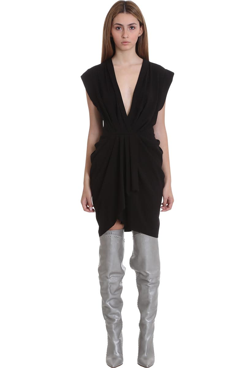 Buy IRO Garm Dress In Black Tech/synthetic online, shop IRO with free shipping