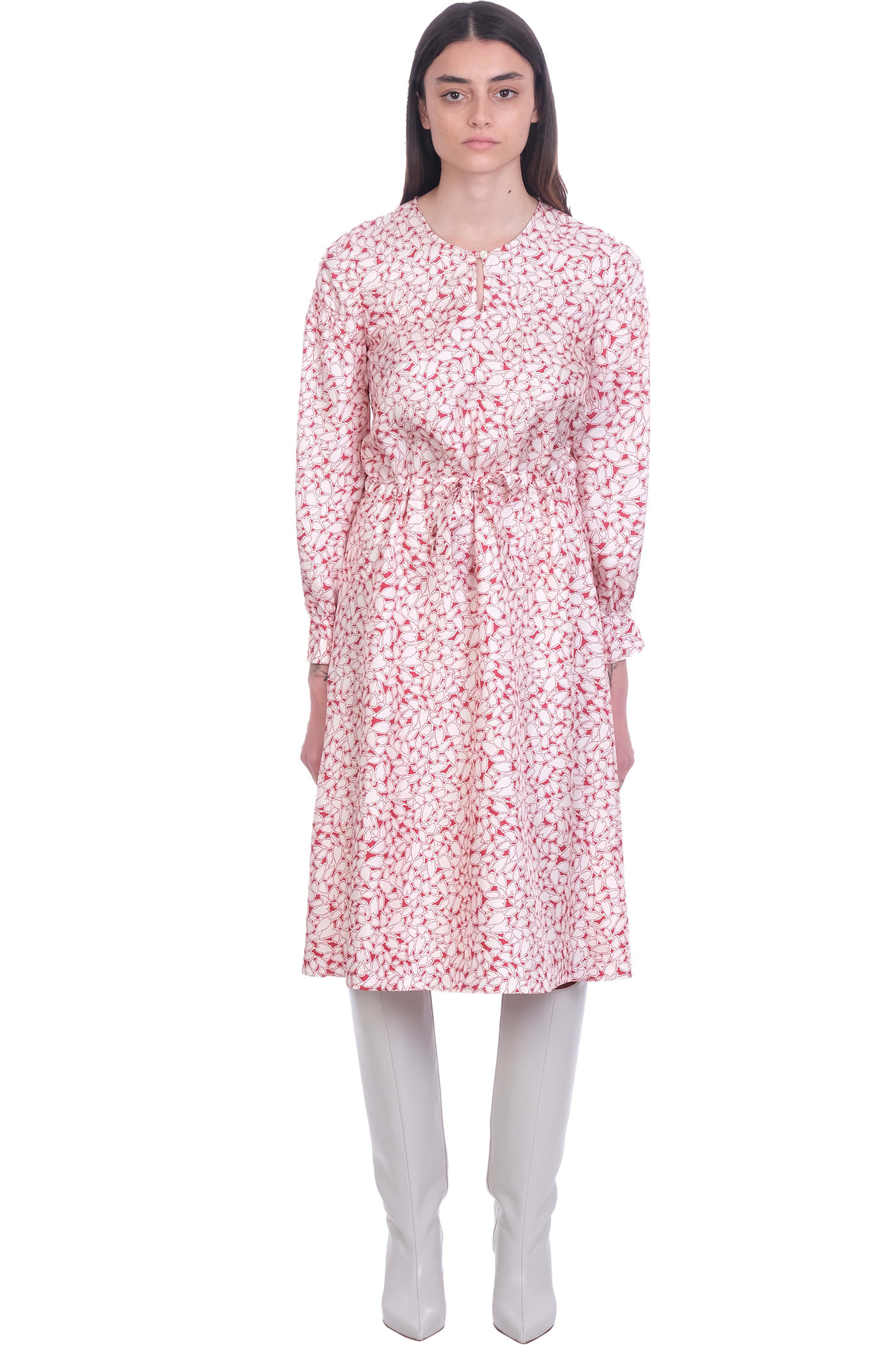 Buy A.P.C. Clemence Dress In White Silk online, shop A.P.C. with free shipping
