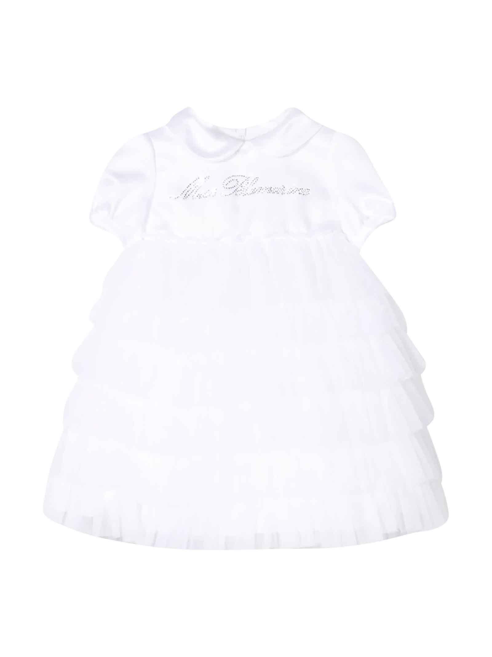 Miss Blumarine WHITE DRESS